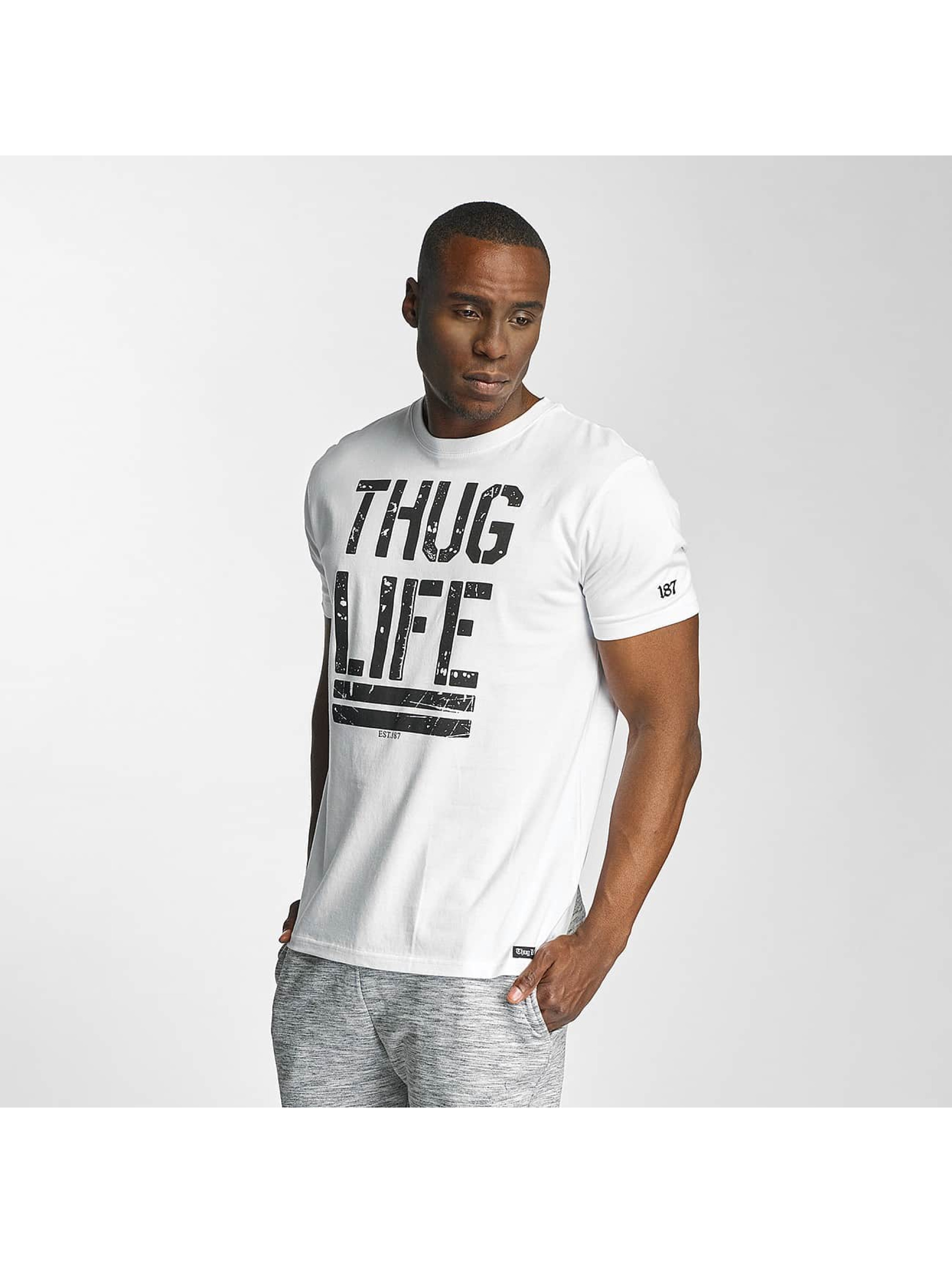 Thug Life / T-Shirt Ghost in white L
