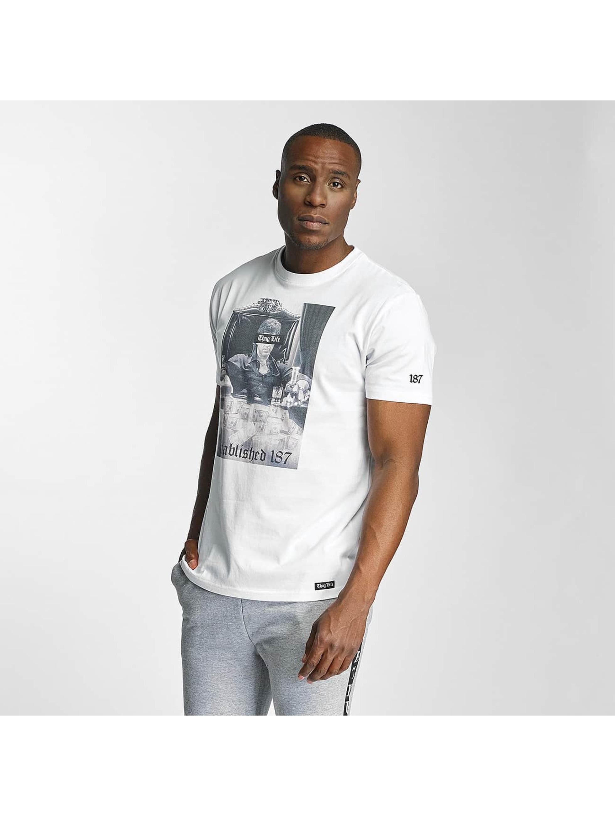 Thug Life / T-Shirt Scar in white XL