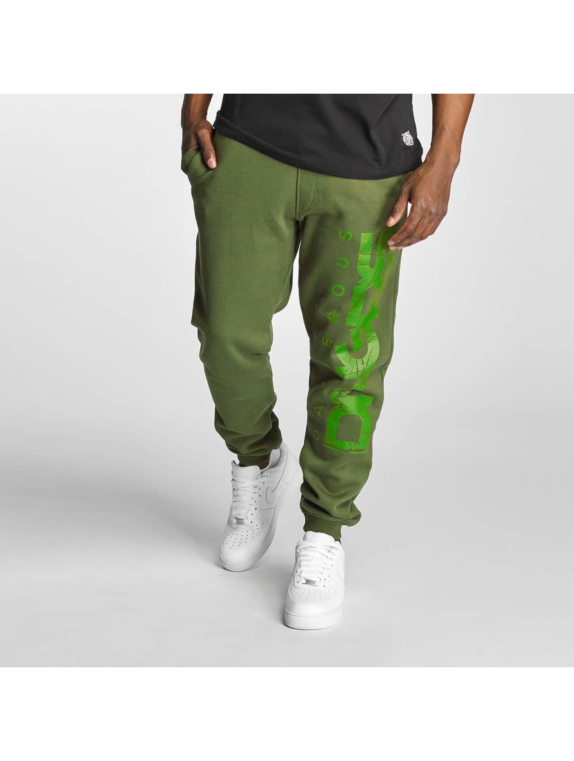 Dangerous DNGRS / Sweat Pant Full Anger in green M