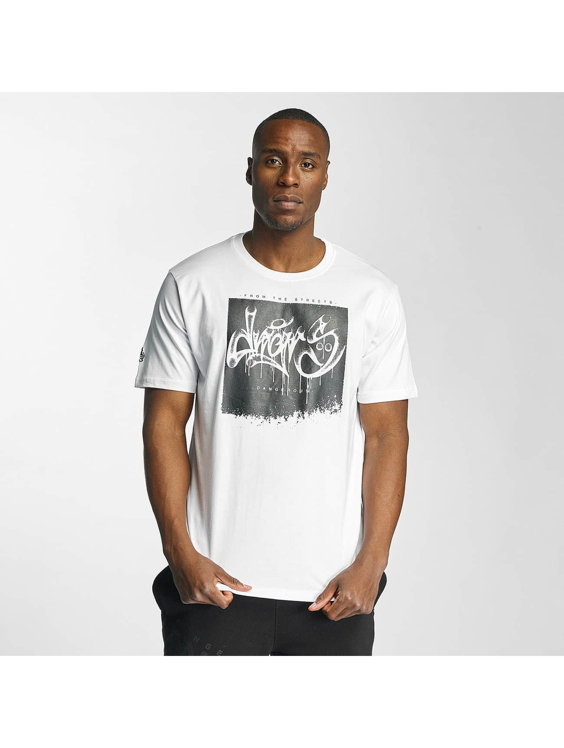 Dangerous DNGRS / T-Shirt From The Streets Throw Up in white L