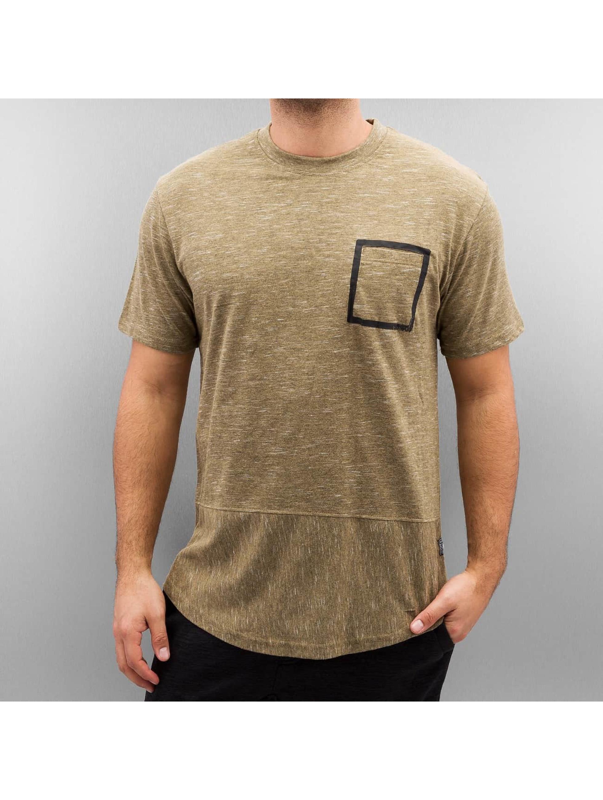 Southpole Männer T-Shirt Slub Scallop in beige