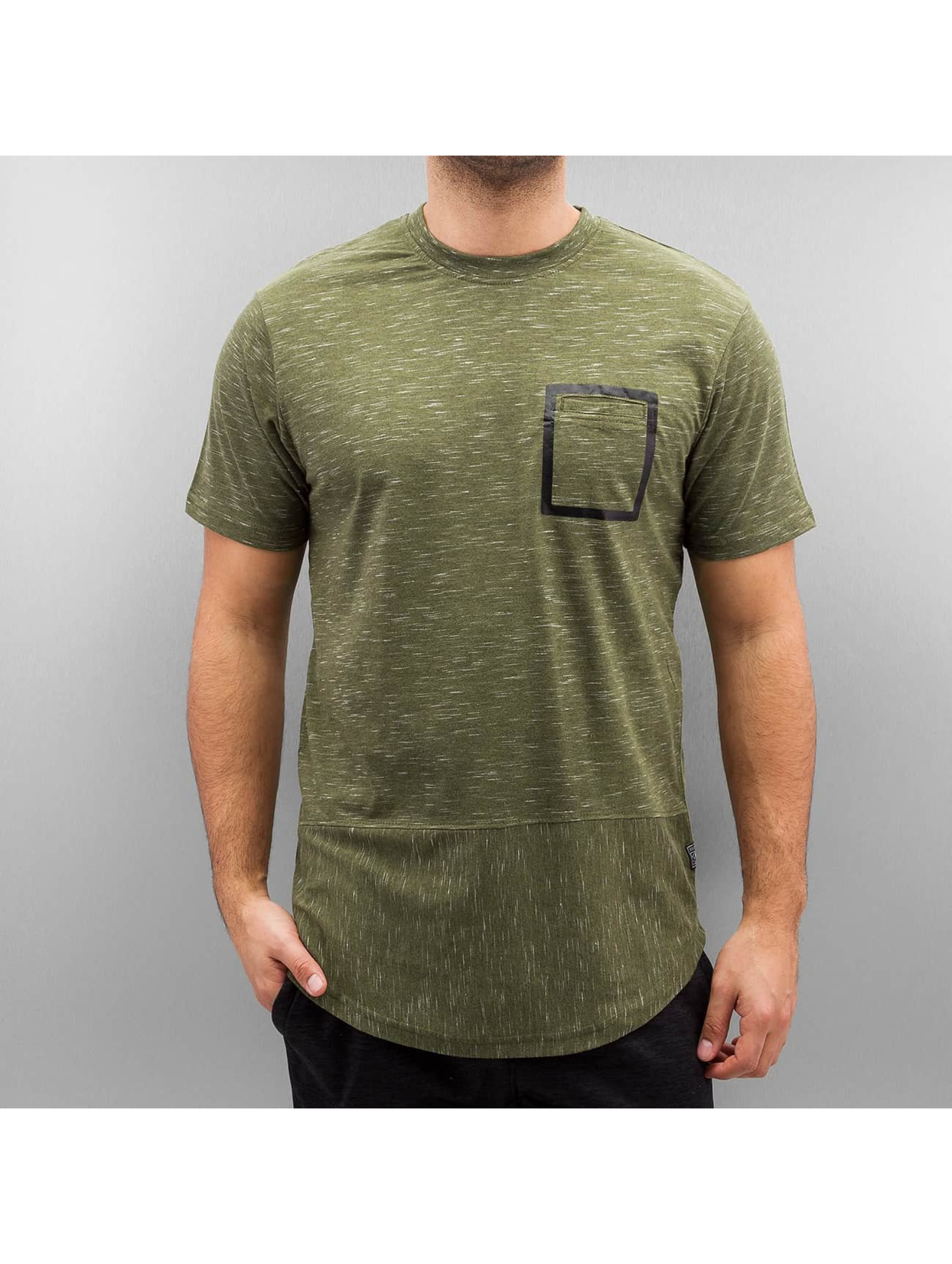 Southpole Männer T-Shirt Slub Scallop in olive