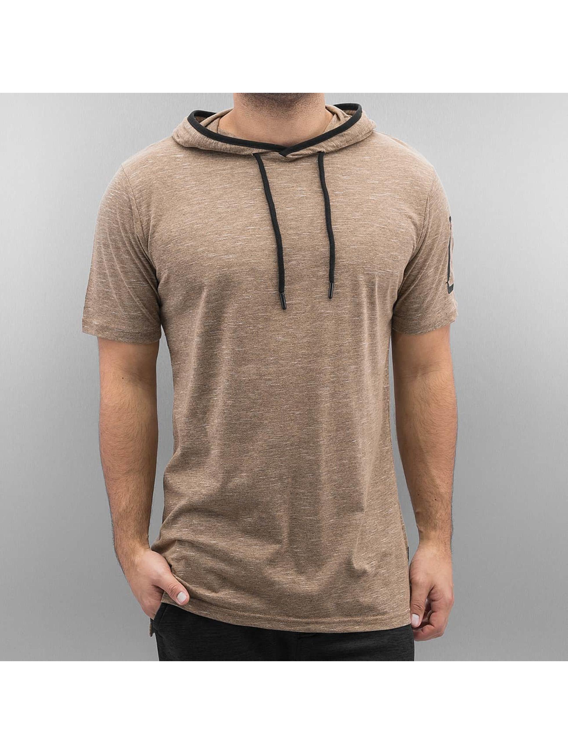 Southpole Männer T-Shirt Slub Scallop in braun