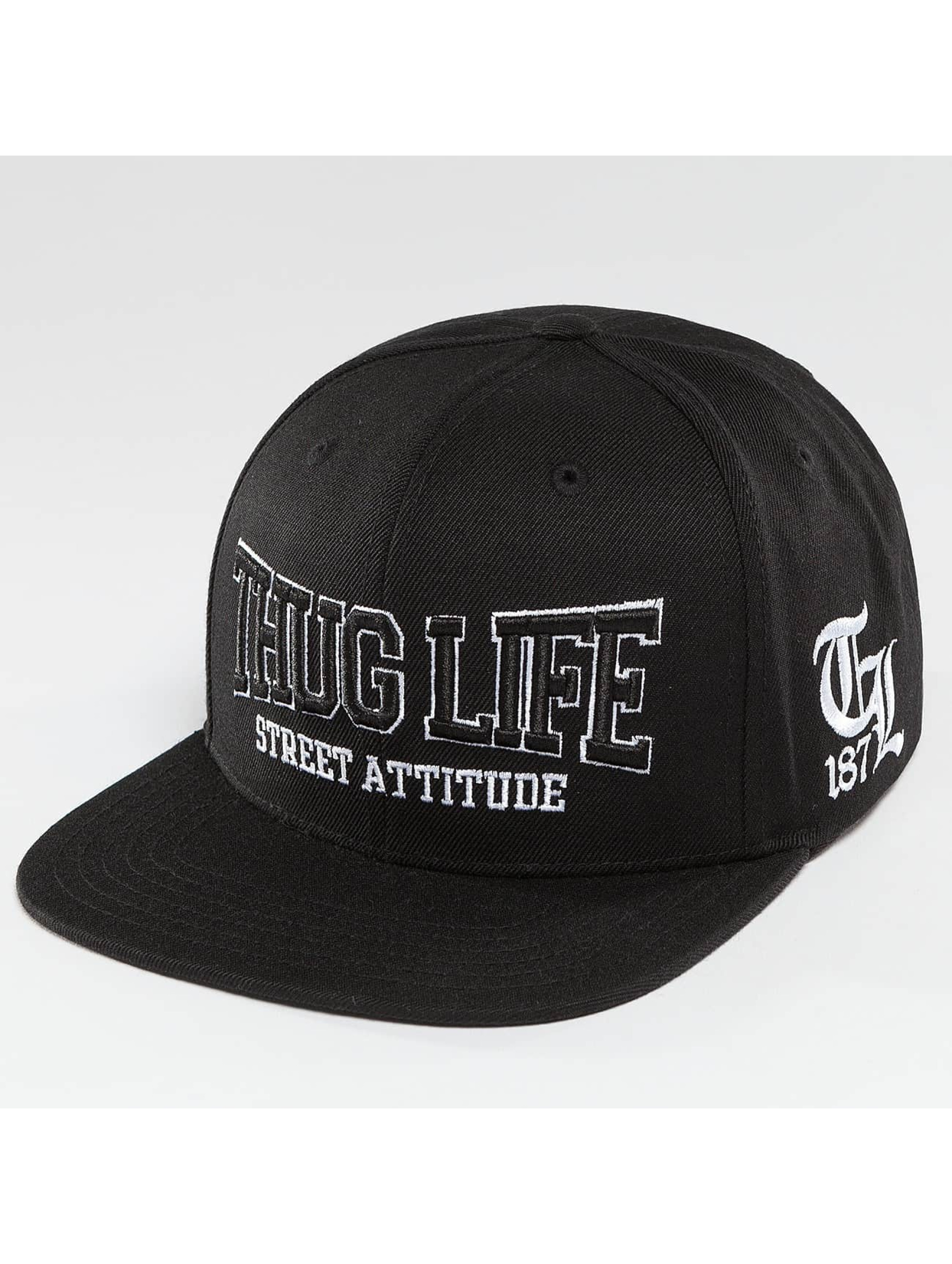 Thug Life / Snapback Cap Attitude in black Adjustable