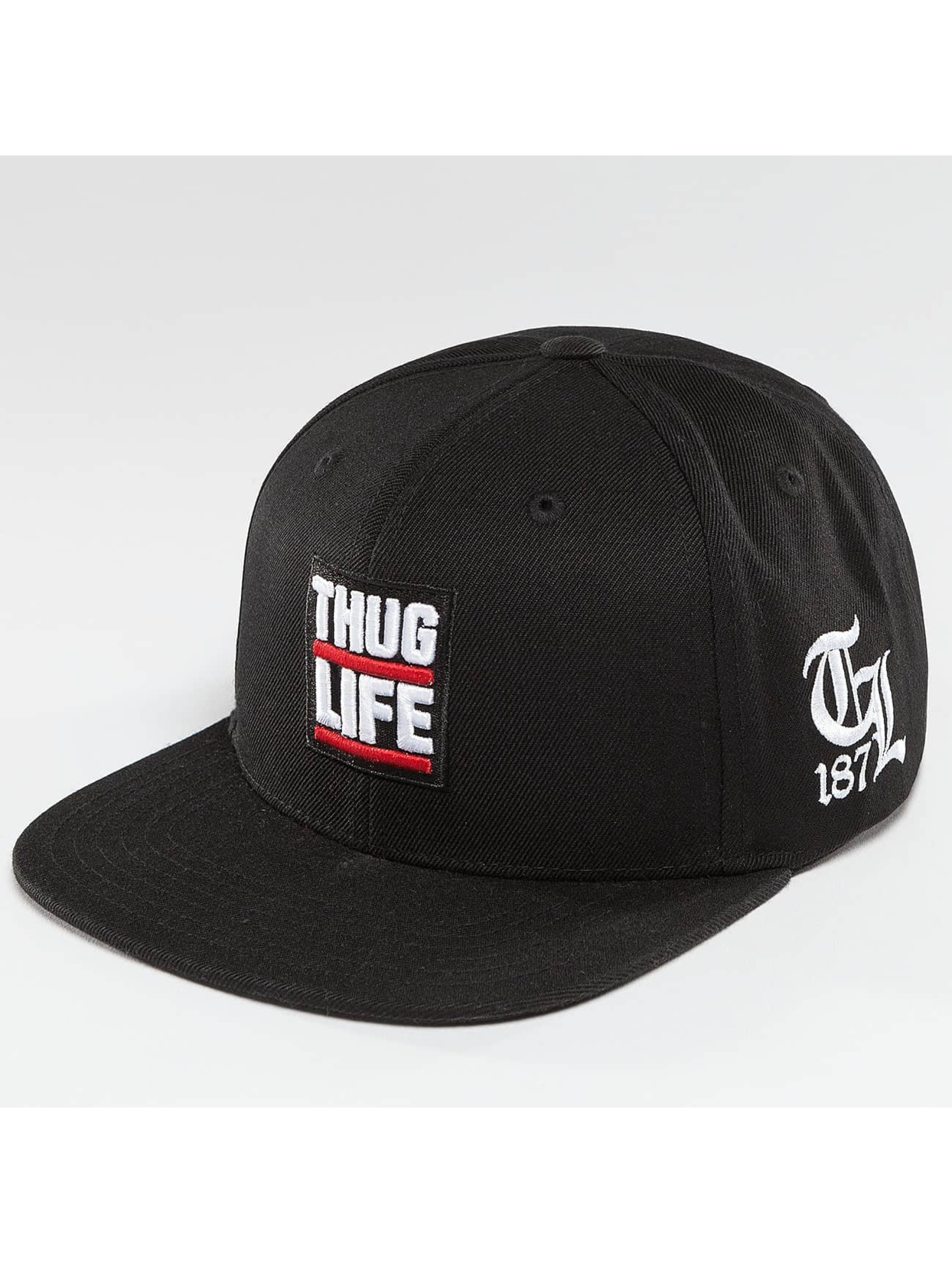 Thug Life / Snapback Cap Raw in black Adjustable