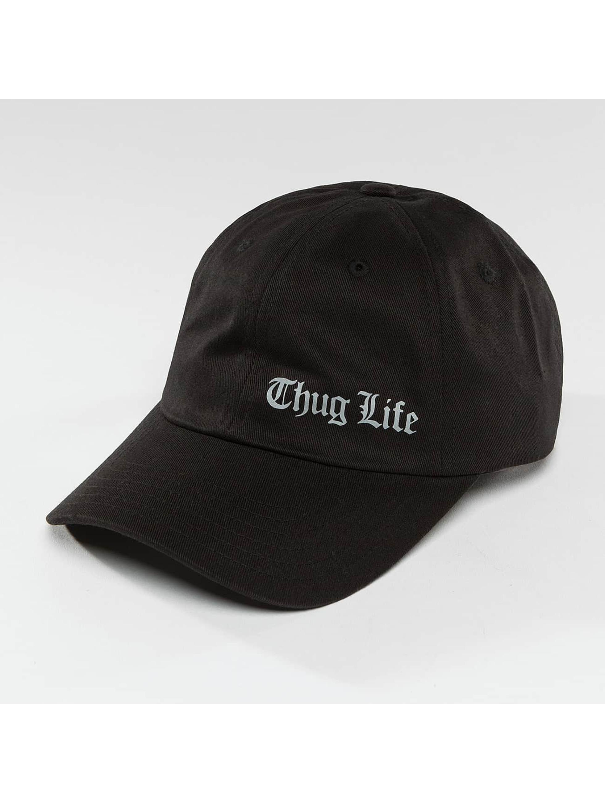Thug Life / Snapback Cap Curved in black Adjustable