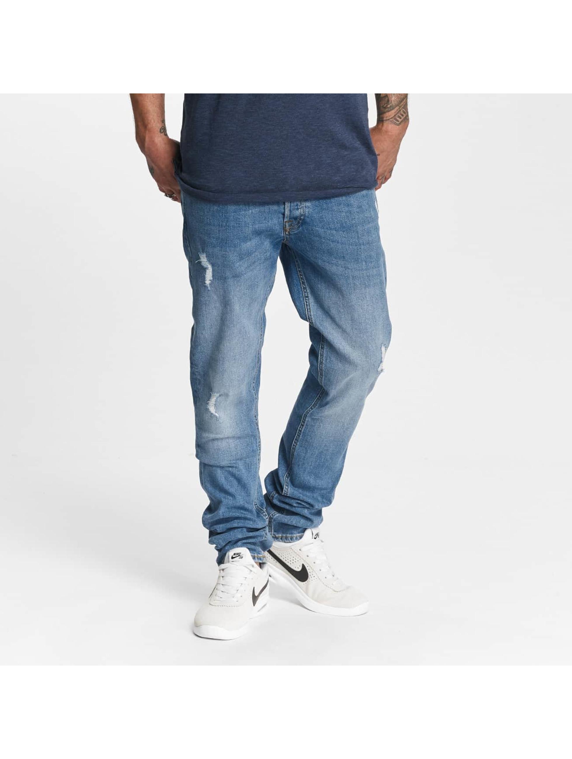 Jack & Jones Männer Straight Fit Jeans jjiTim jjOriginal AM 418 in blau