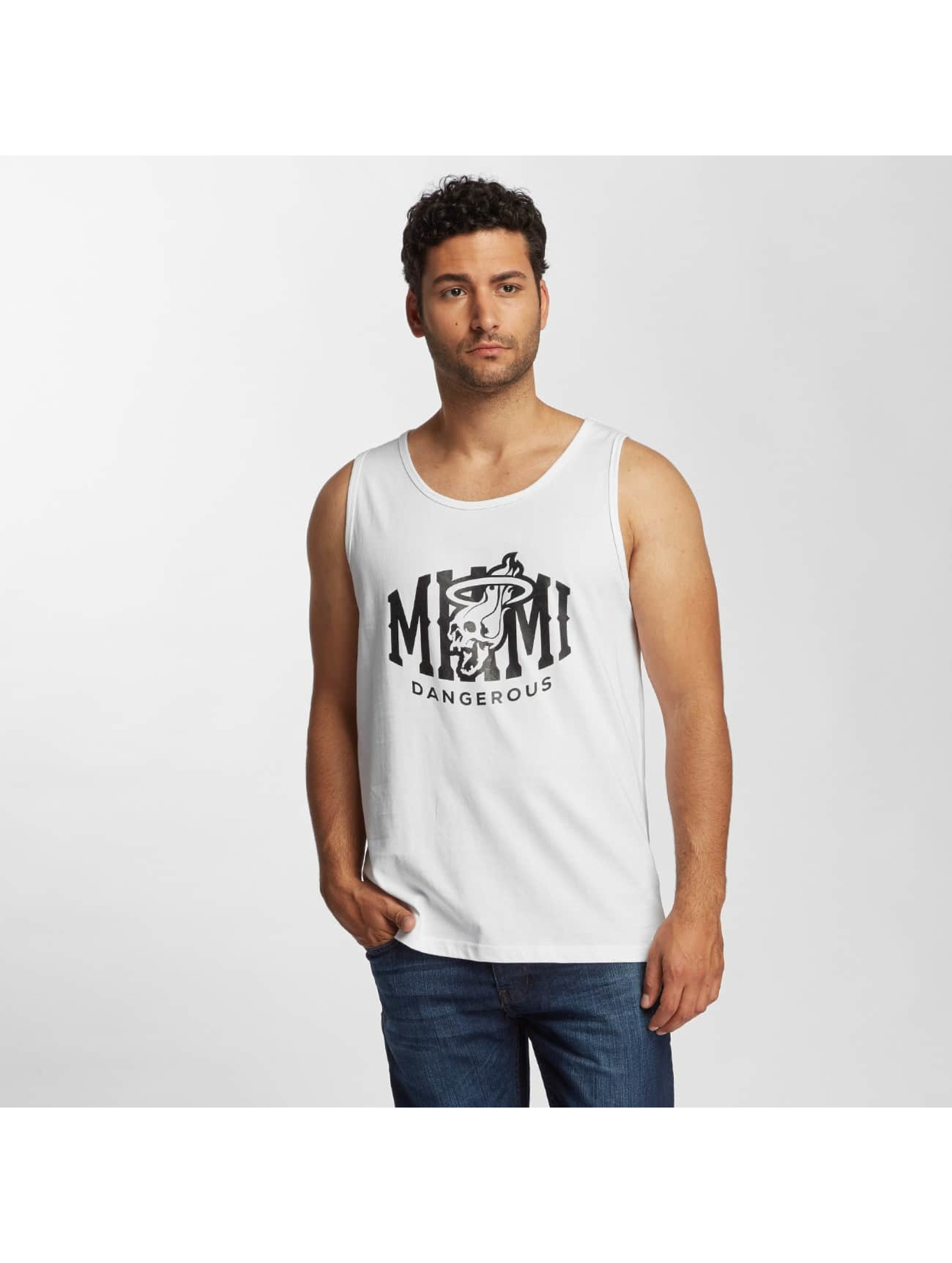 Dangerous DNGRS / Tank Tops Miamiskull in white S