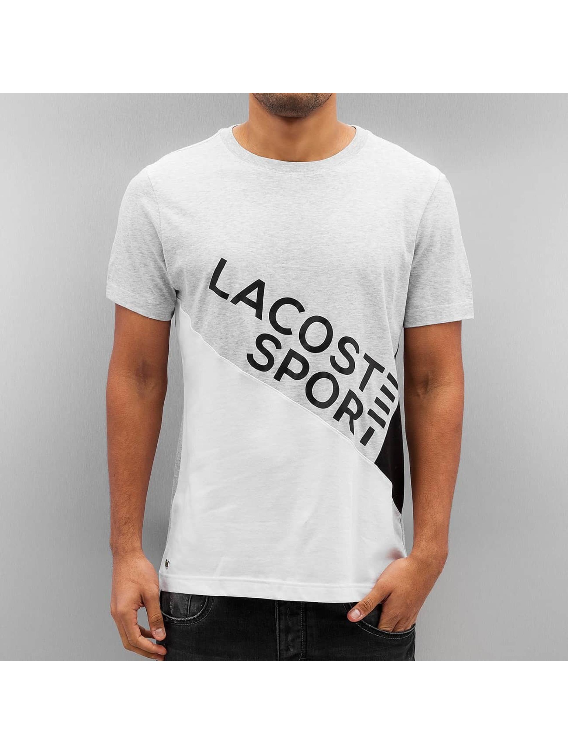 Lacoste Classic T Shirt Silver Chine White Black Black