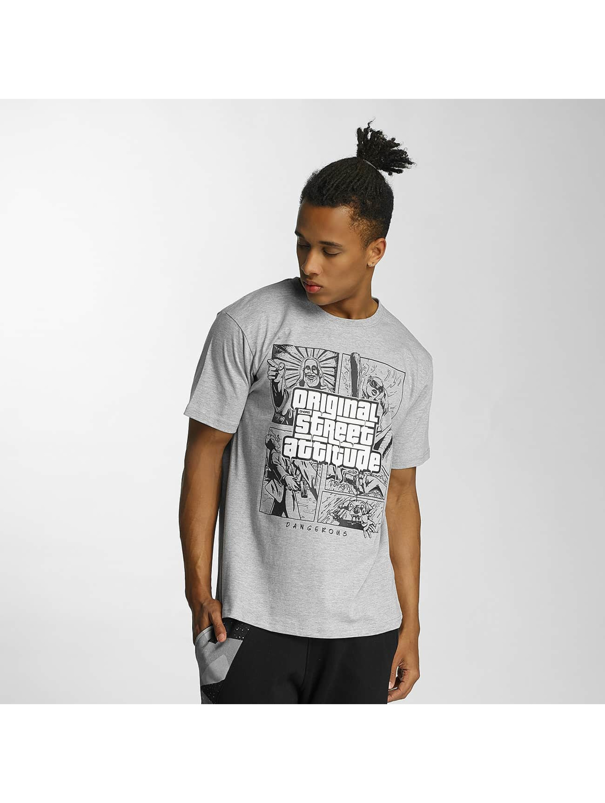 Dangerous DNGRS Original Street Attiude T-Shirt Grey Sale Angebote Gablenz