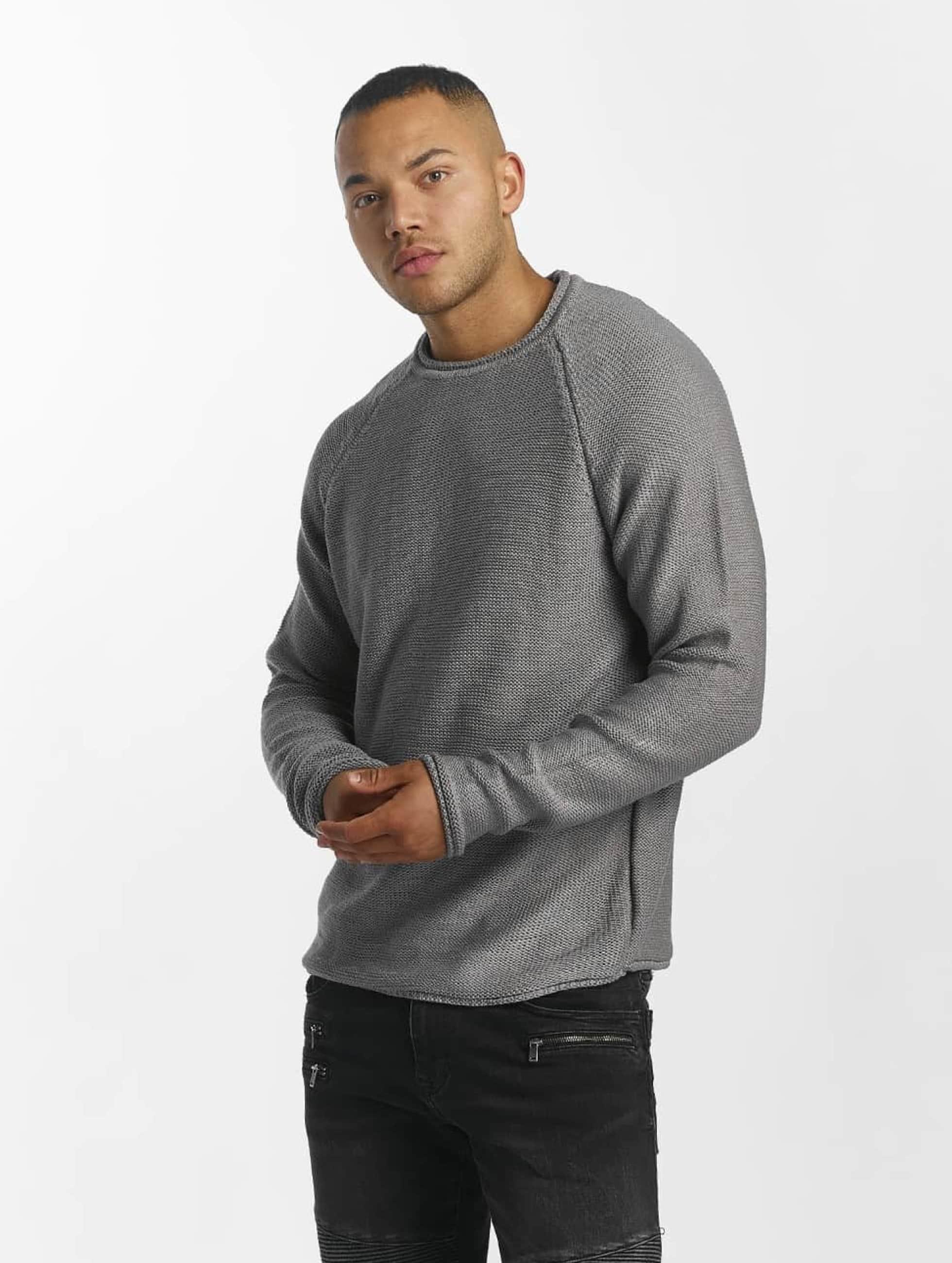 DEF Männer Pullover Knit in grau