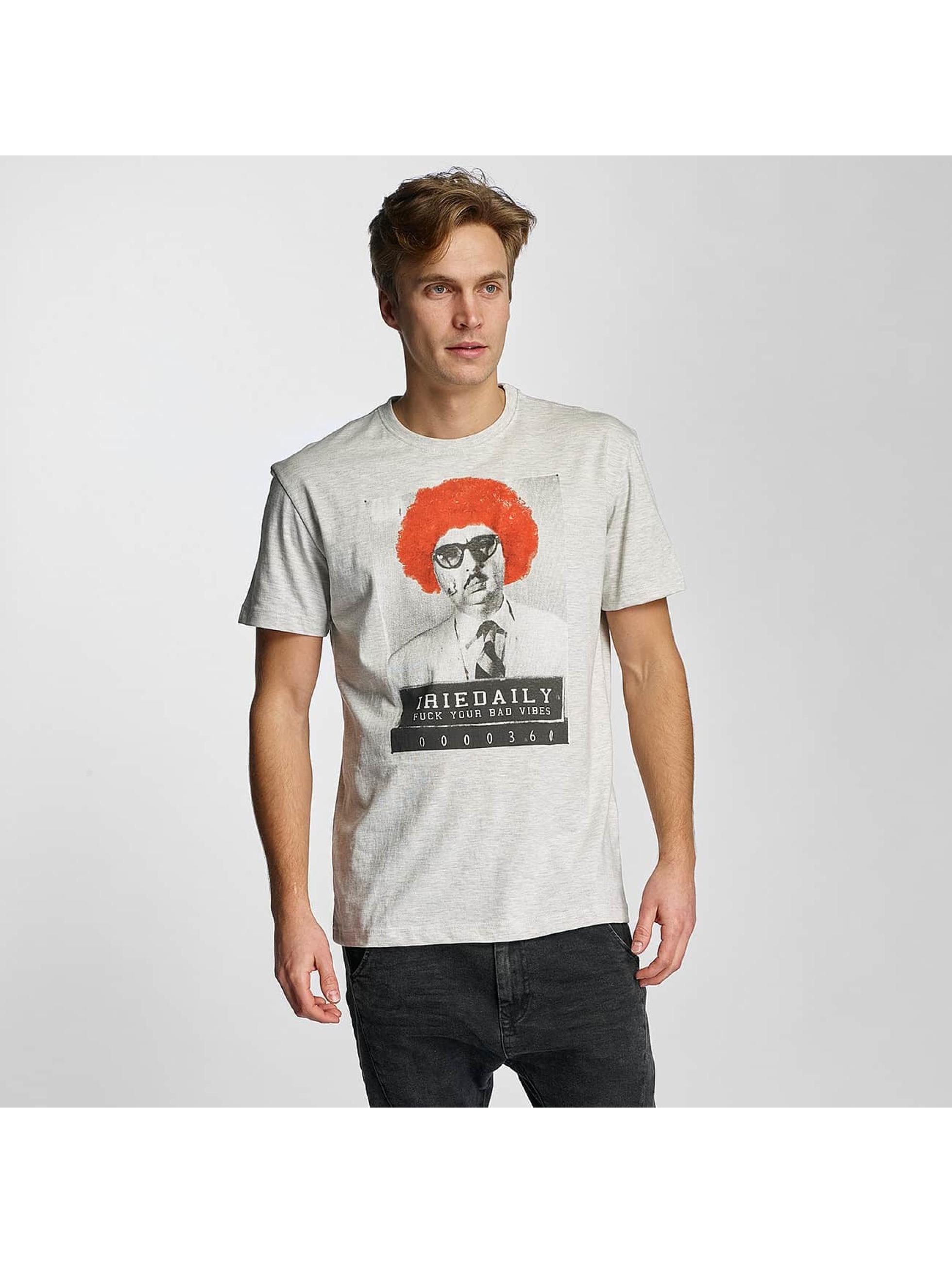 Iriedaily Männer T-Shirt No Bad Vibes in beige