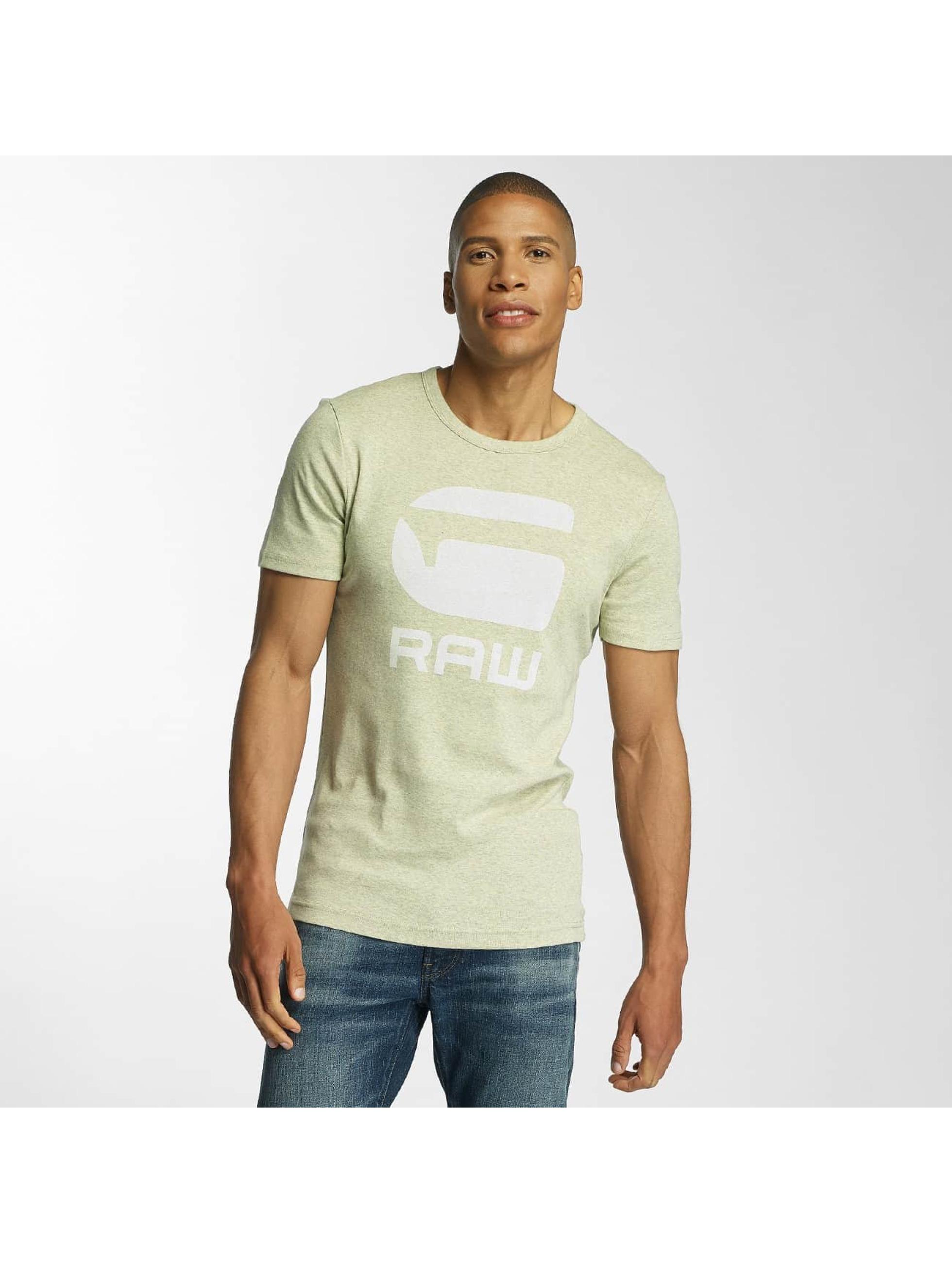 G-Star Männer T-Shirt Drillon Cool Rib in gelb