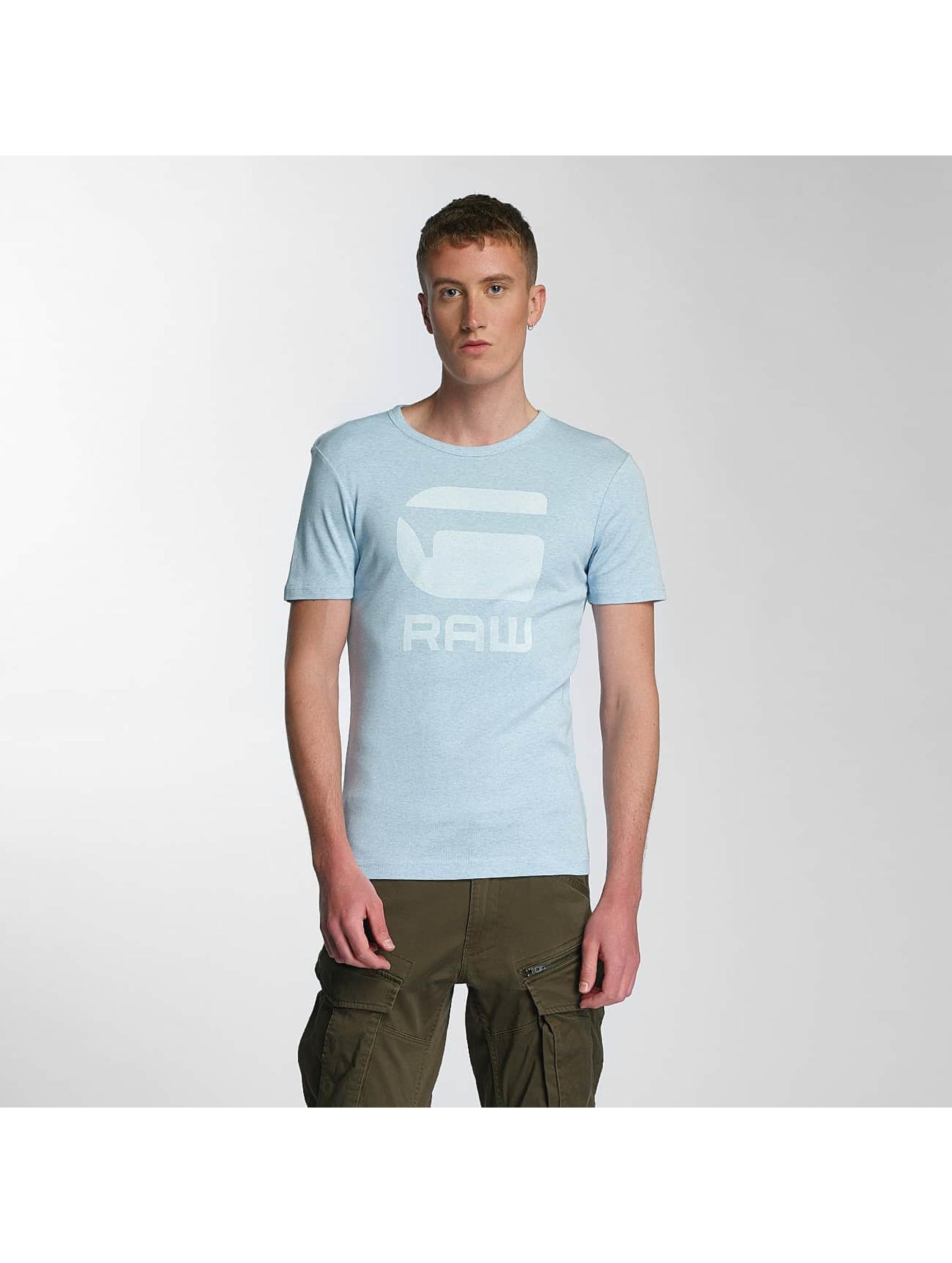 G-Star Männer T-Shirt Drillon Cool Rib in blau