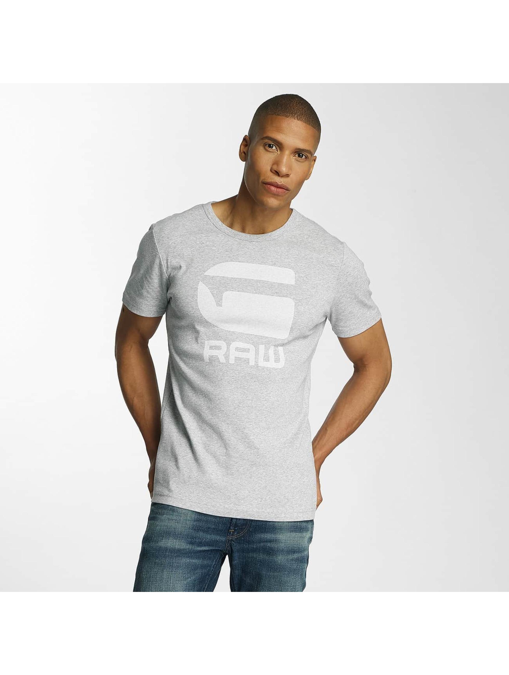 G-Star Männer T-Shirt Drillon Cool Rib in grau