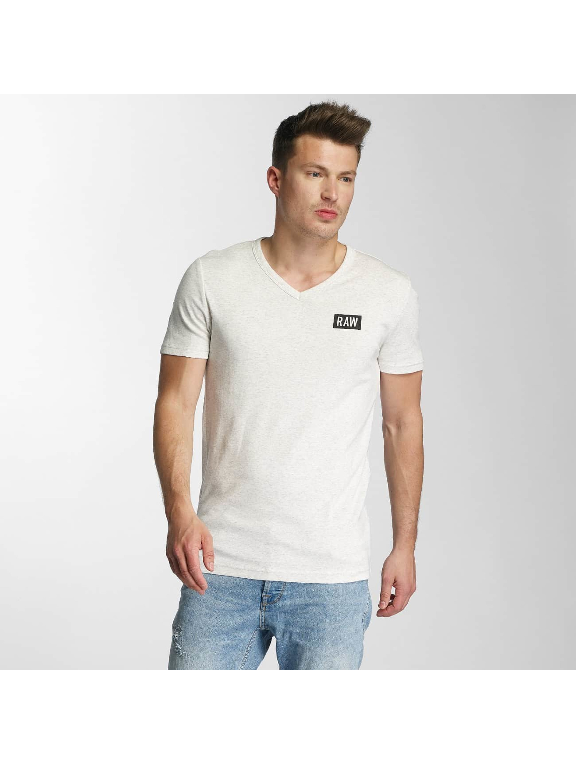 G-Star Männer T-Shirt Drillon Cool Rib in weiß