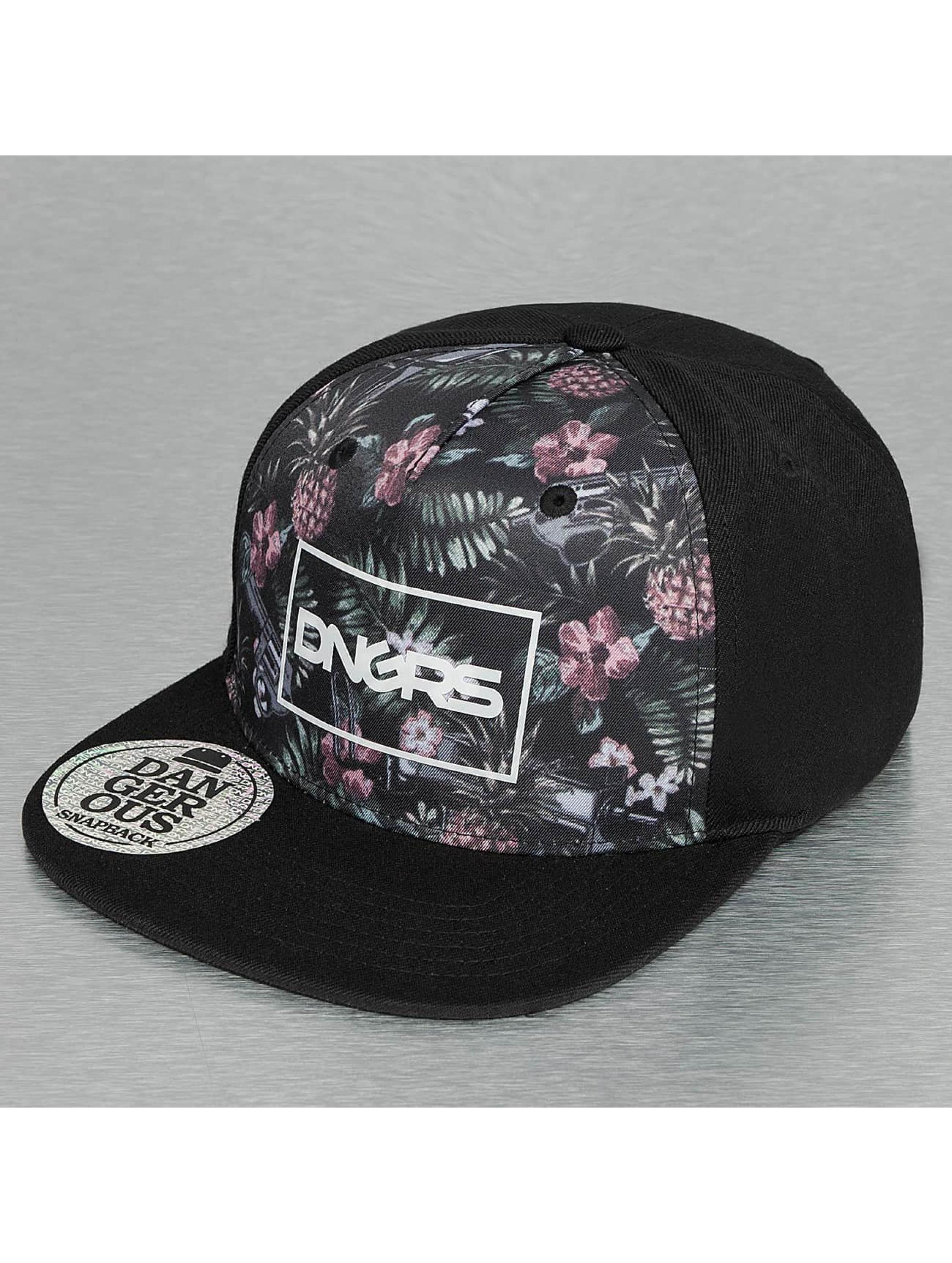 Dangerous DNGRS / Snapback Cap Flower in black Adjustable
