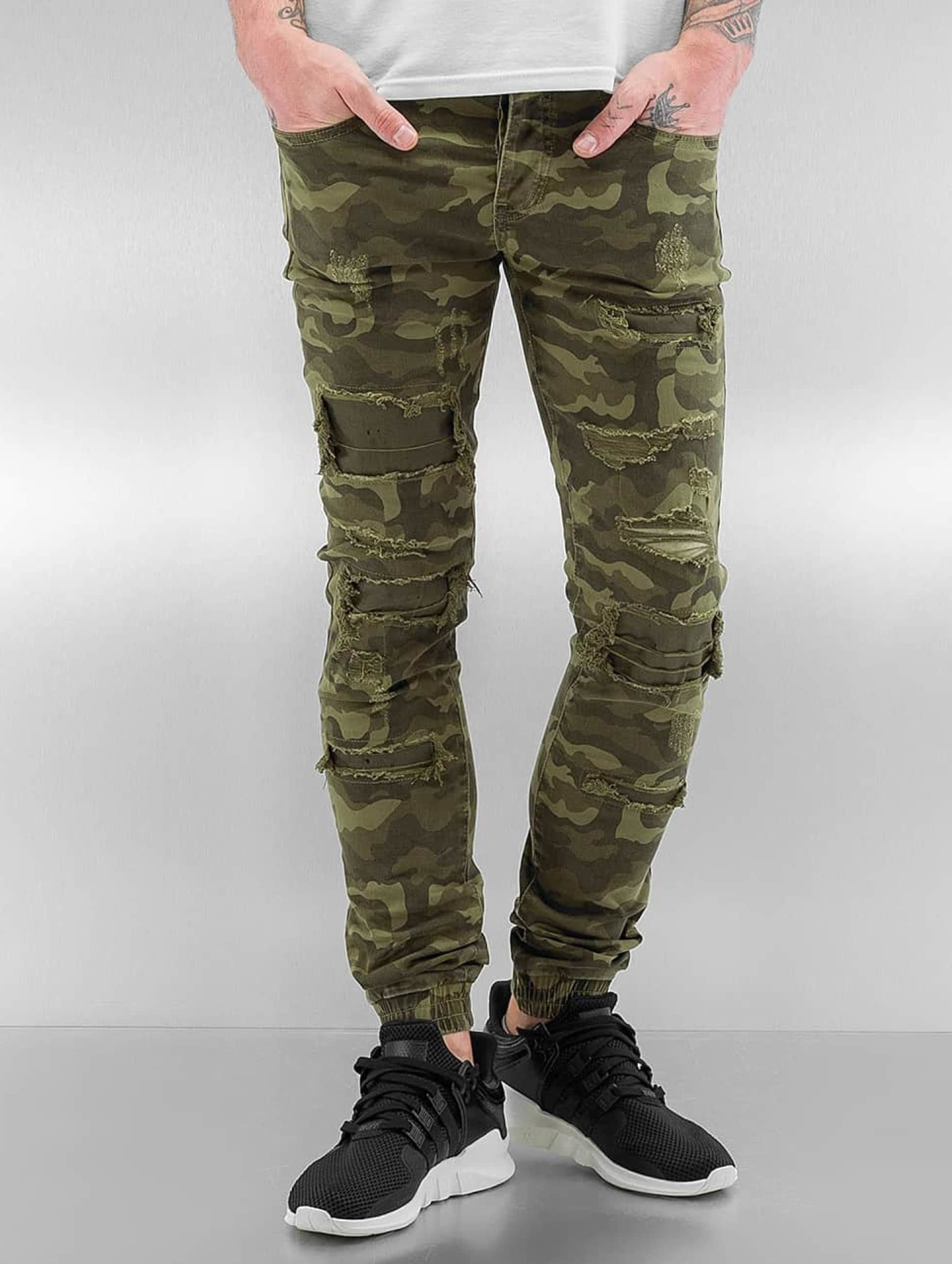 herren sixth june maenner skinny jeans destroyed camou in camouflage 03614320120439. Black Bedroom Furniture Sets. Home Design Ideas