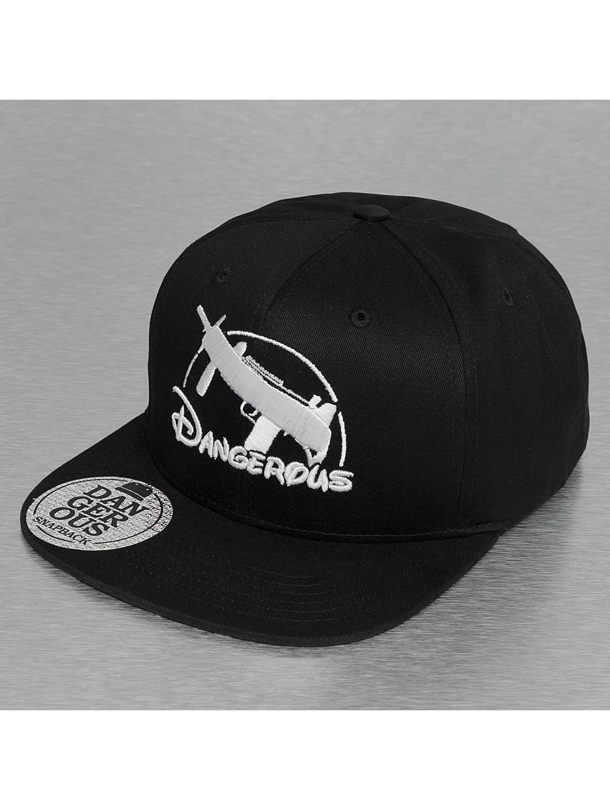 Dangerous DNGRS / Snapback Cap Uzi in black Adjustable