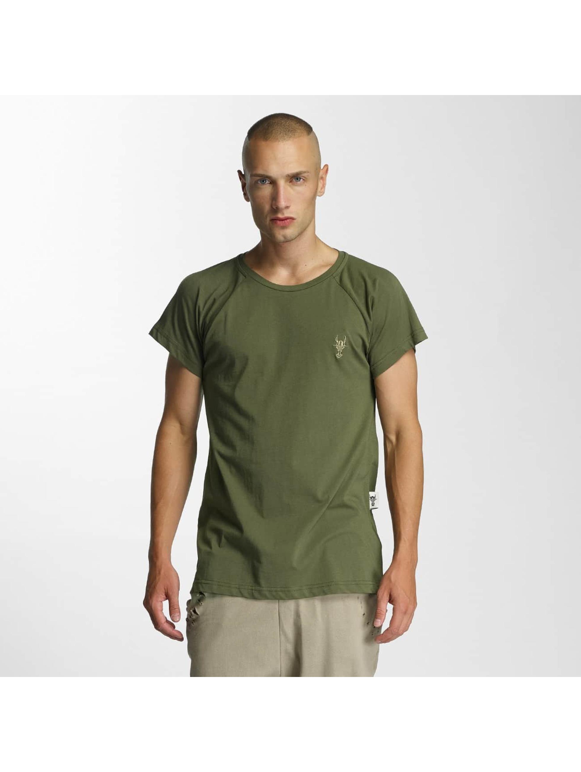 Cavallo de Ferro Männer T-Shirt Logo in olive