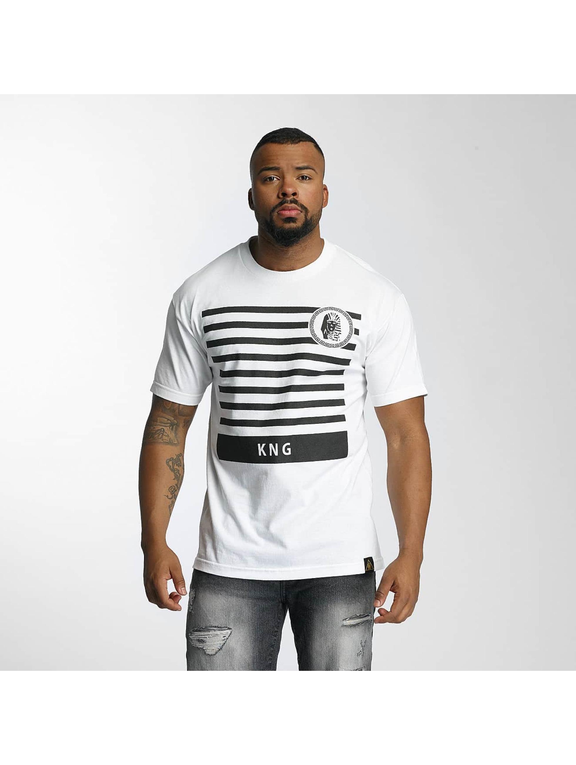 Last Kings Männer T-Shirt KNG in weiß