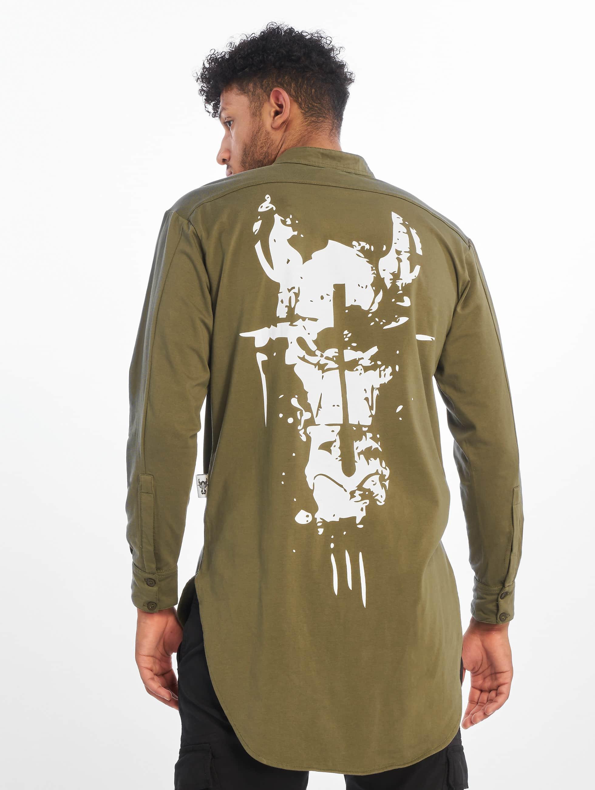Cavallo de Ferro Männer Longsleeve Big Logo in olive