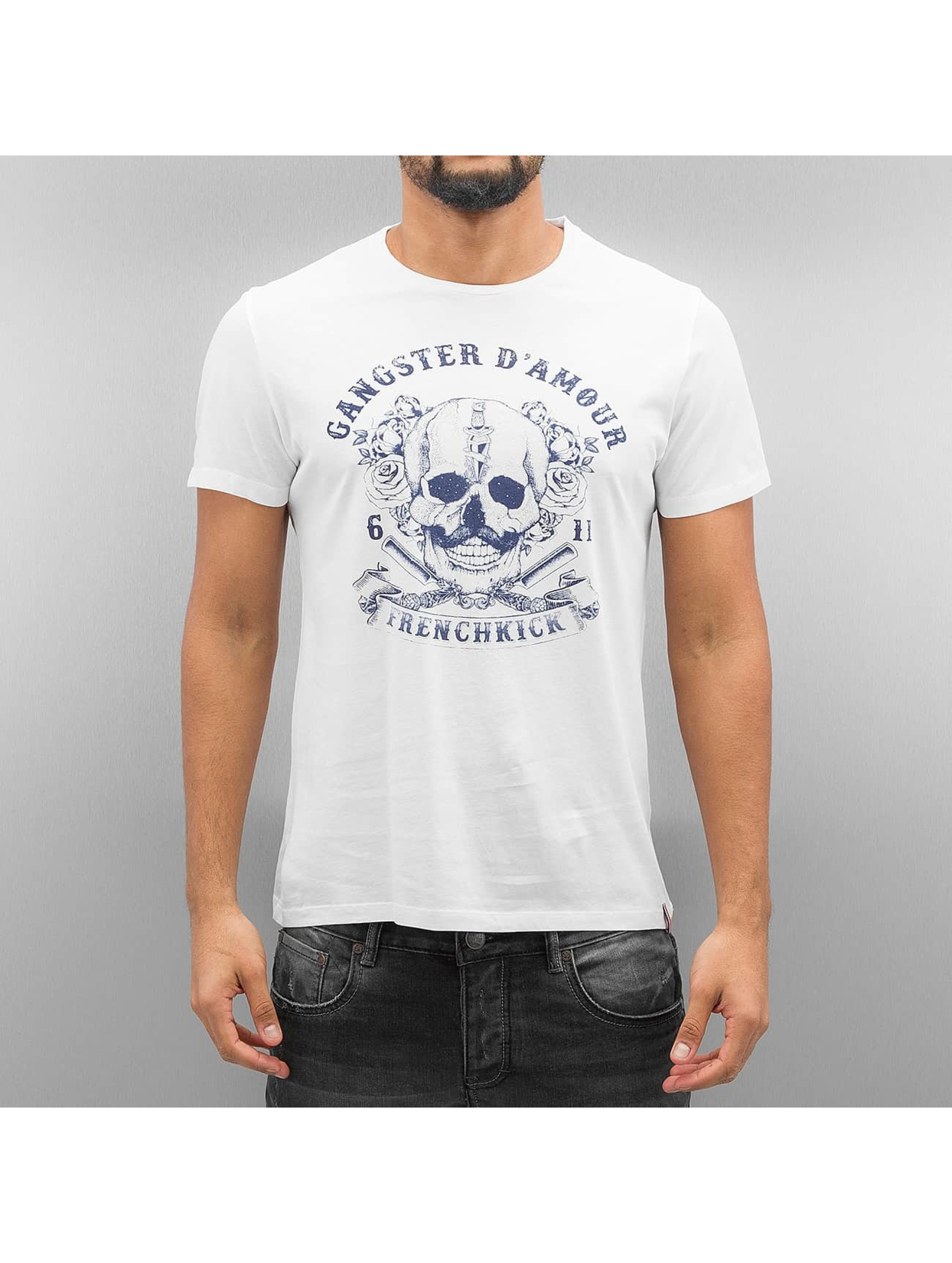 French Kick Männer T-Shirt Amphitryon in weiß