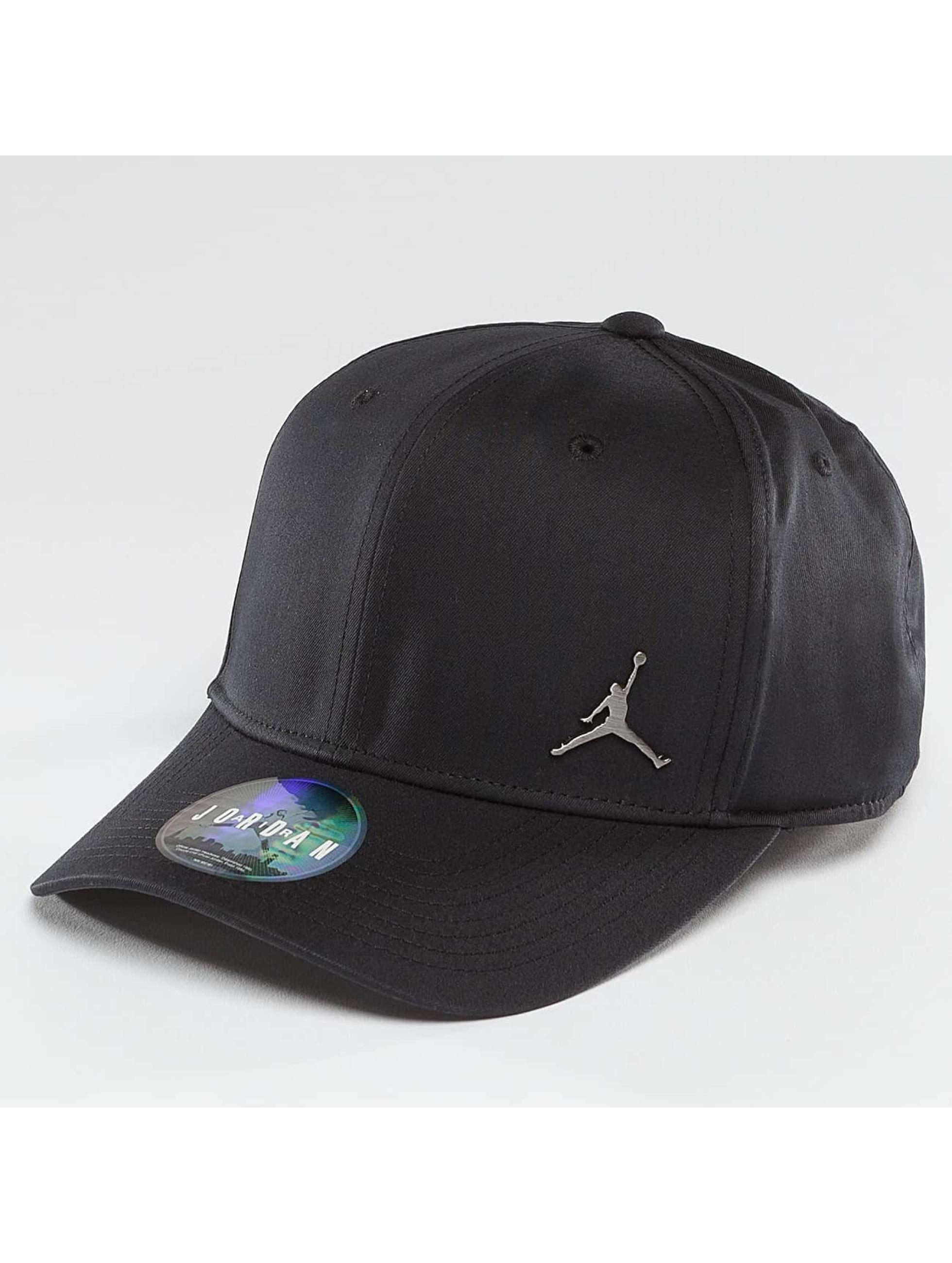 Jordan Männer,Frauen Snapback Cap CLC99 Metal Jumpman in schwarz
