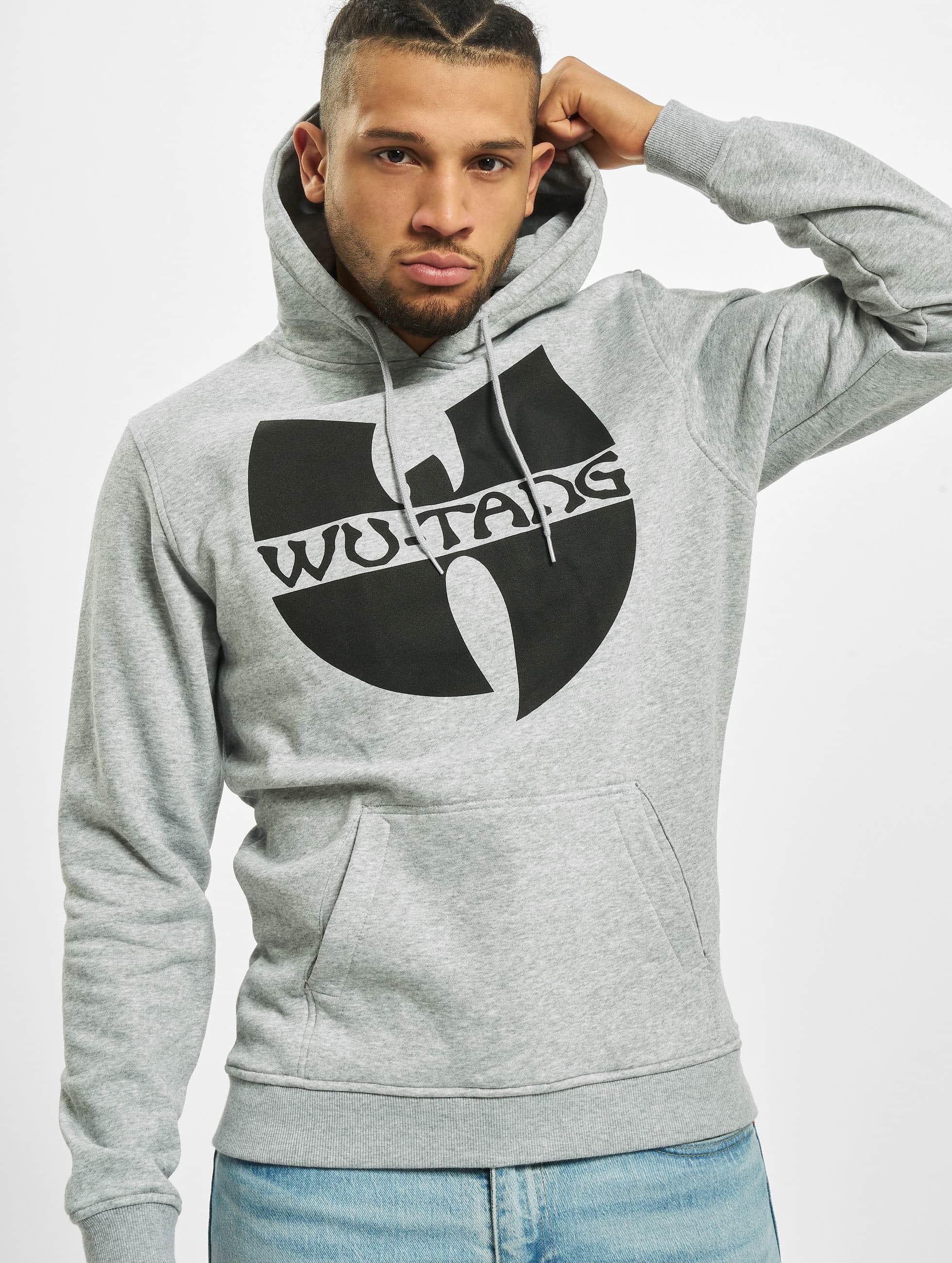Wu-Tang Männer Hoody Logo in grau