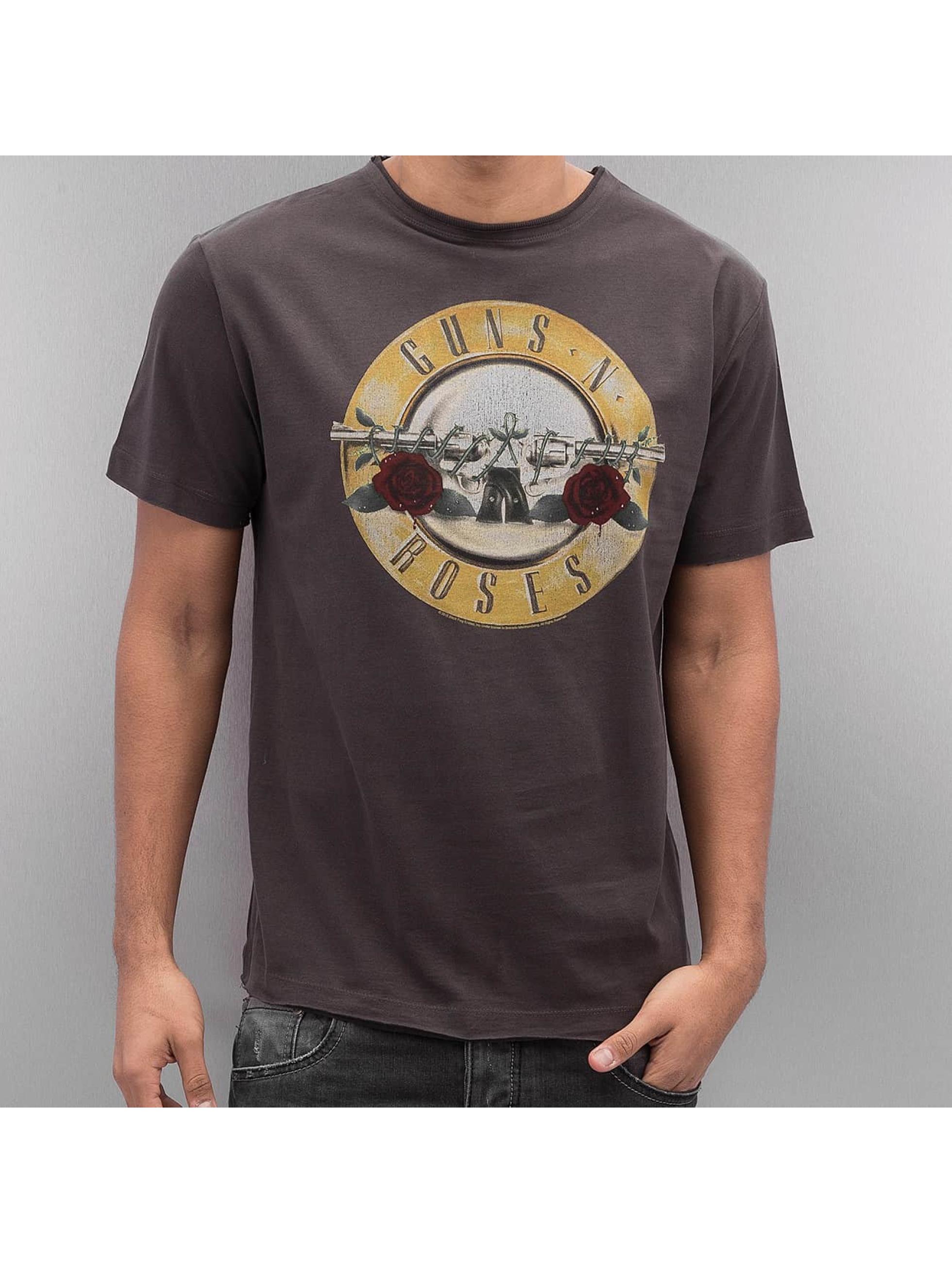 Amplified Guns Roses Drum T Shirt Charcoal
