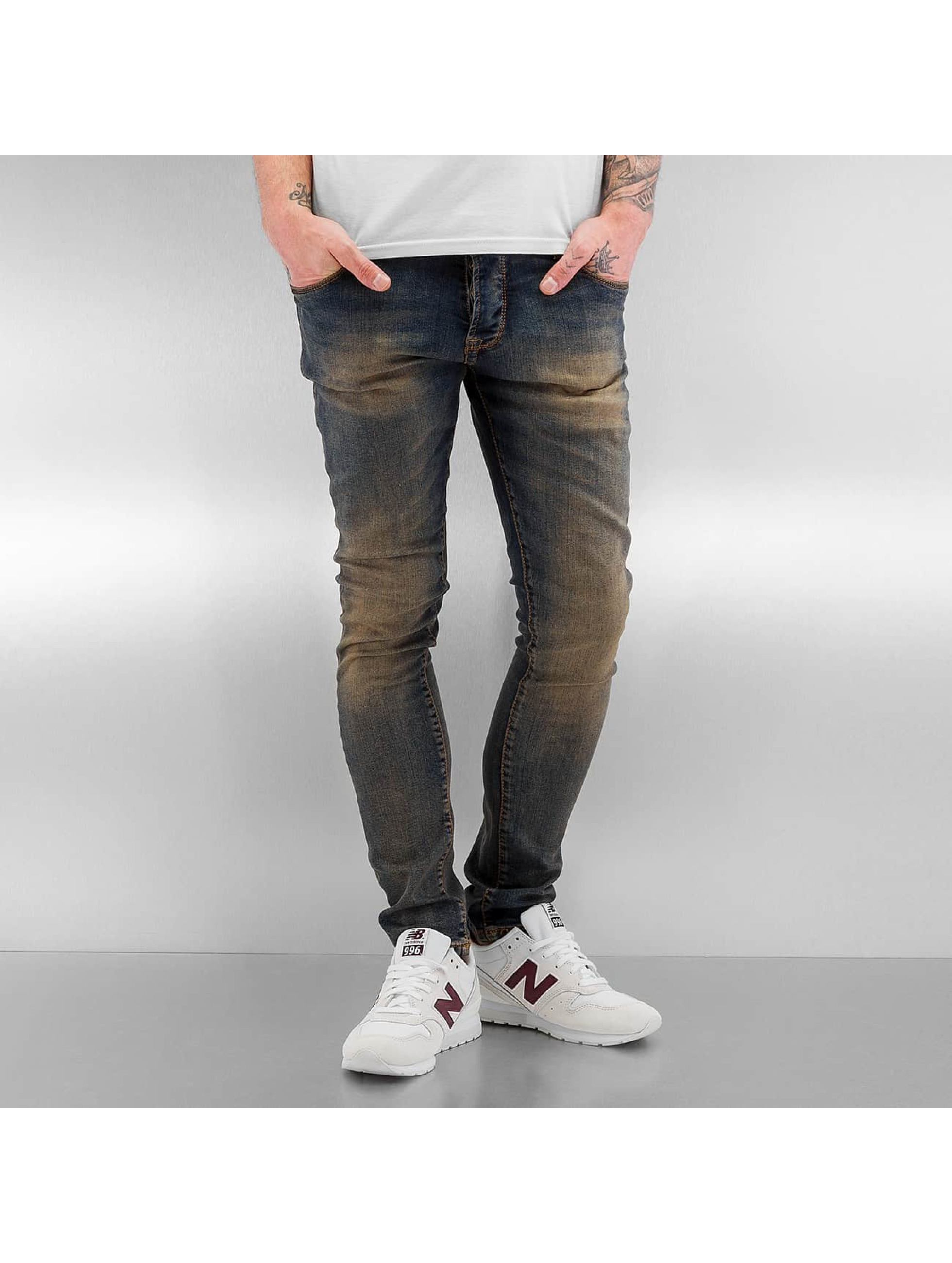 2Y Männer Skinny Jeans Washed in blau