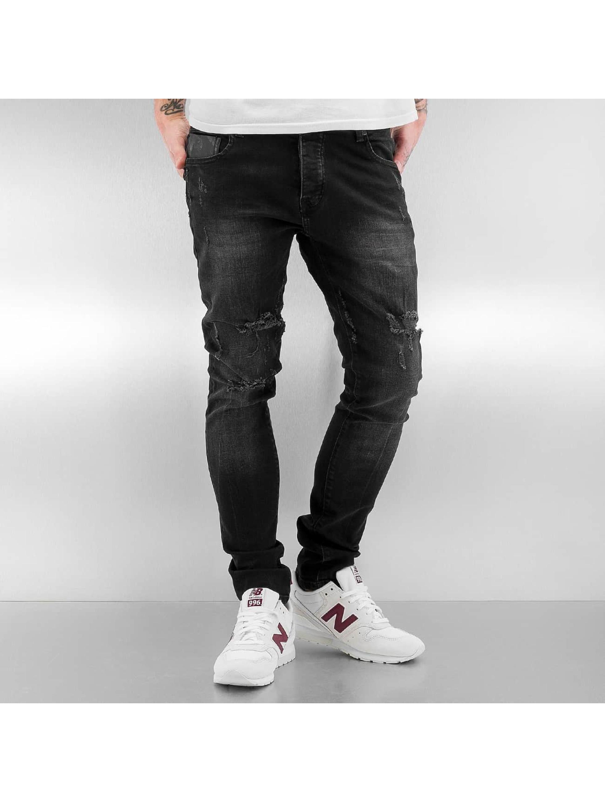 2Y Männer Skinny Jeans Obbo in schwarz