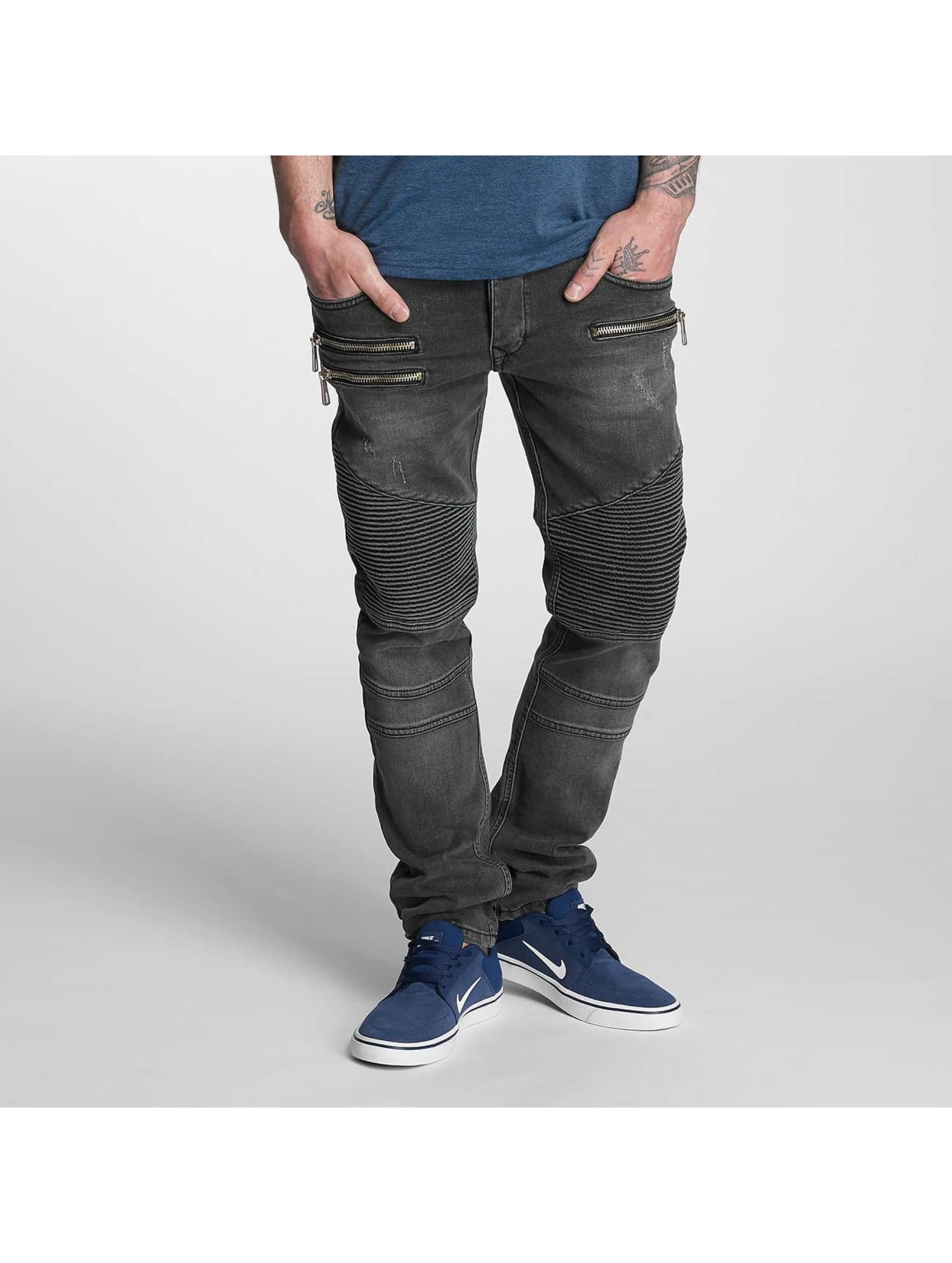 Bangastic Männer Straight Fit Jeans Piet in grau