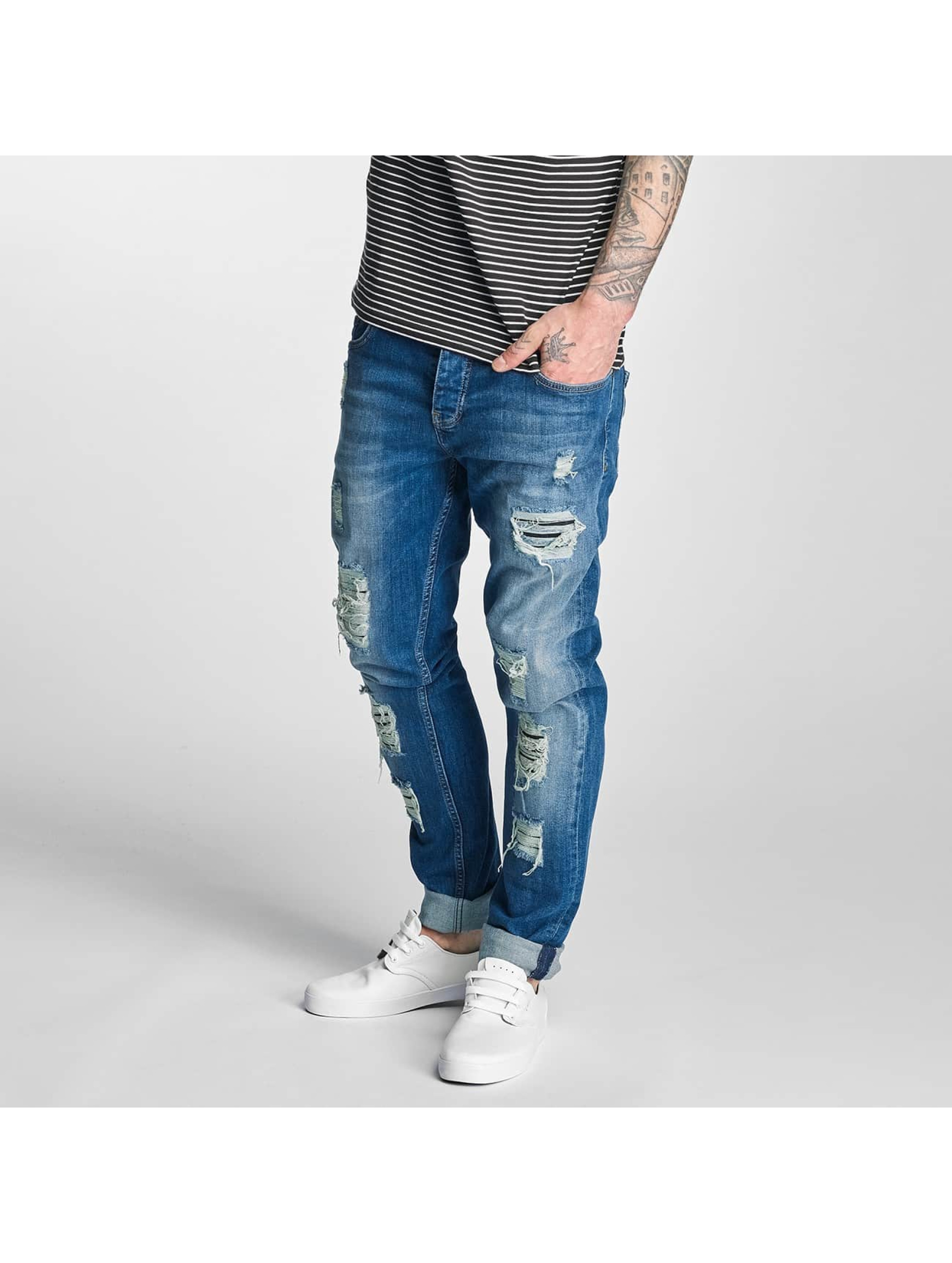 Bangastic Männer Straight Fit Jeans Point in blau