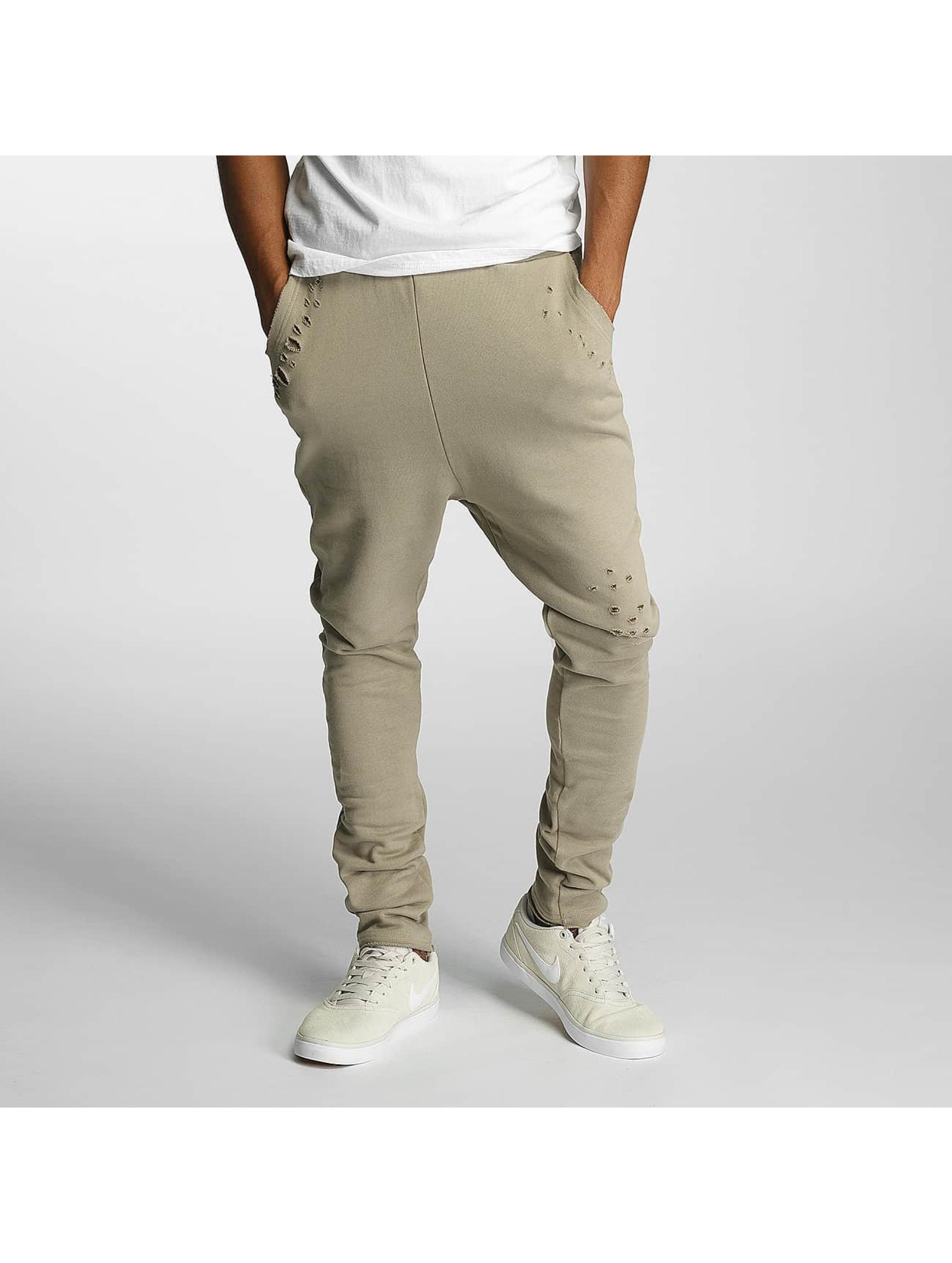 DEF Männer Jogginghose Used in beige
