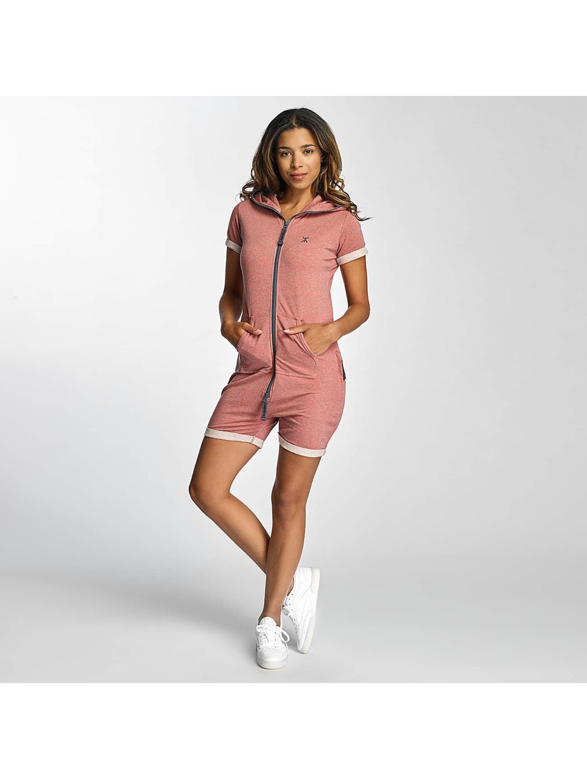 OnePiece Frauen Jumpsuit Fitted Short Onesie in rosa