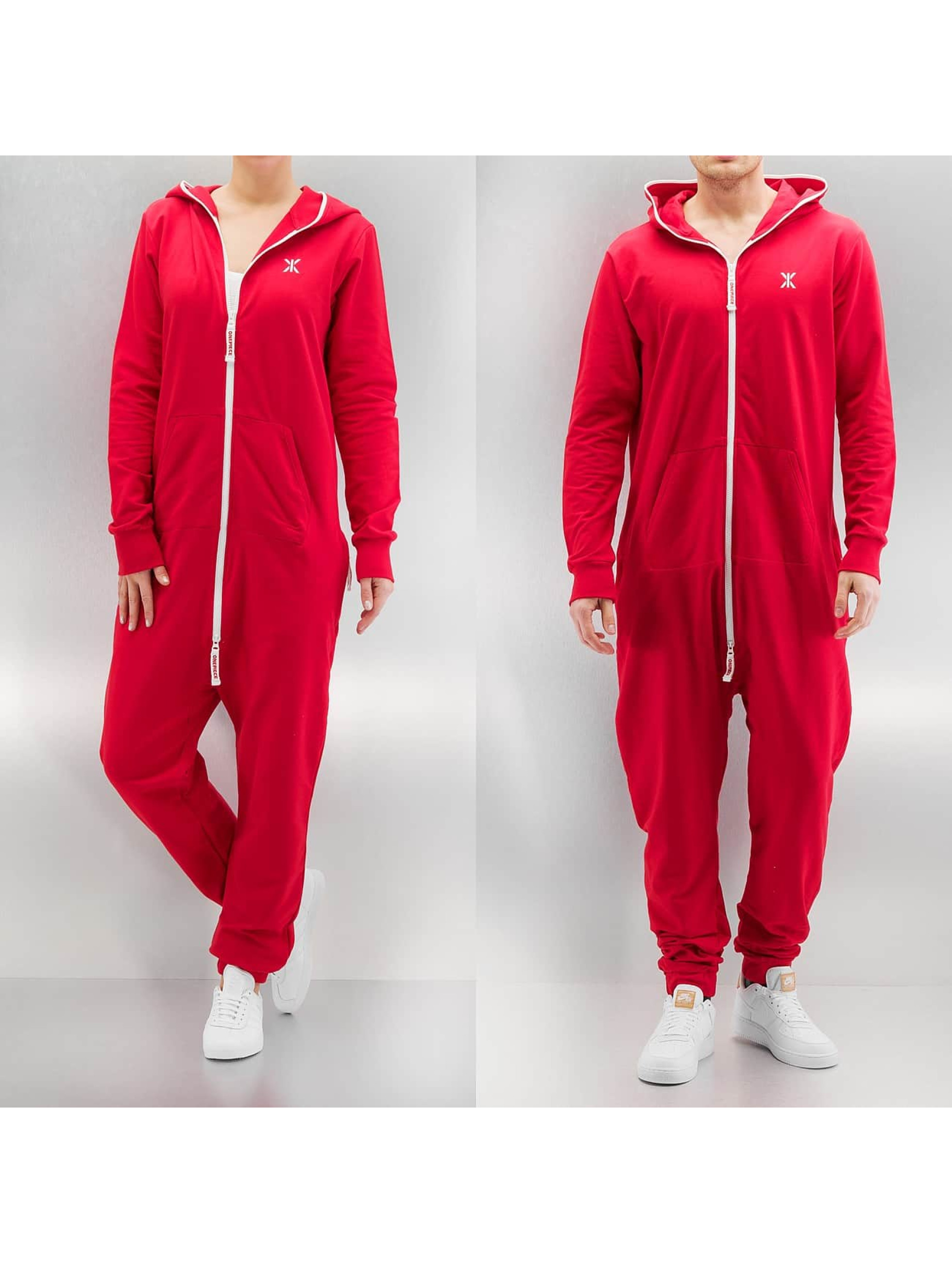 OnePiece Männer,Frauen Jumpsuit Original Onesie New Fit in rot