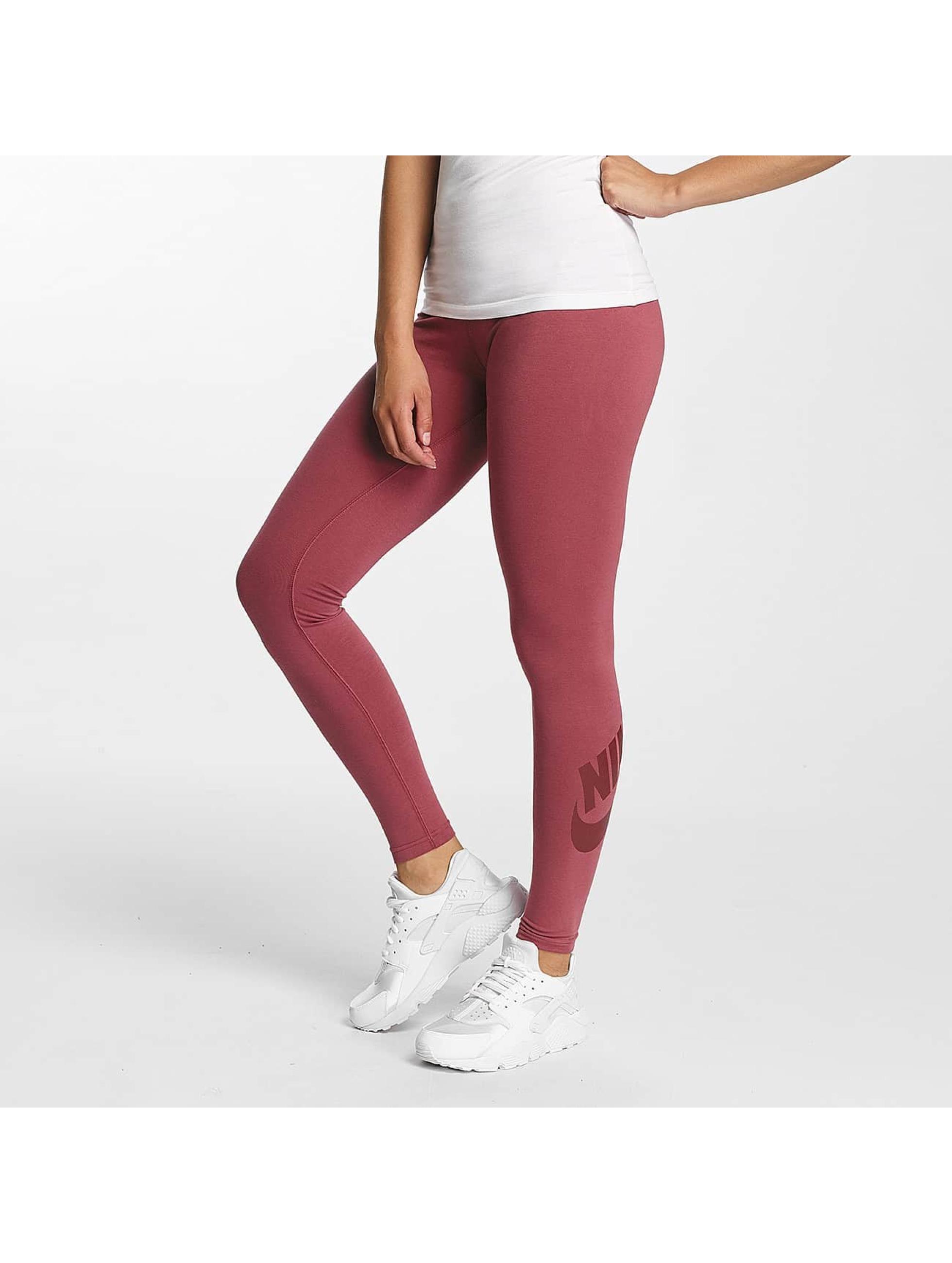 Nike Frauen Legging Leg-A-See Logo in rot