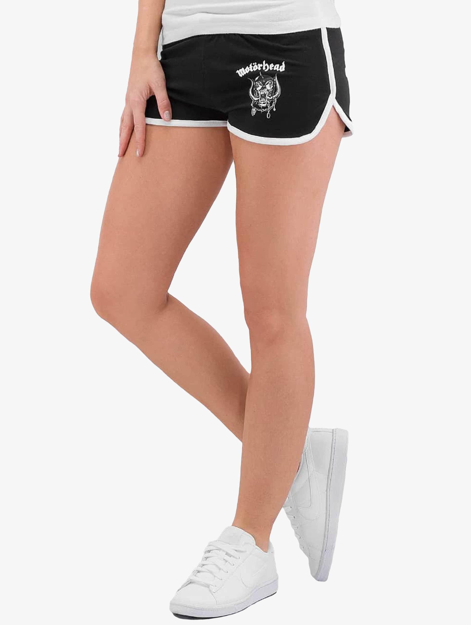 Merchcode Frauen Shorts Ladies Motörhead Logo French Terry in schwarz