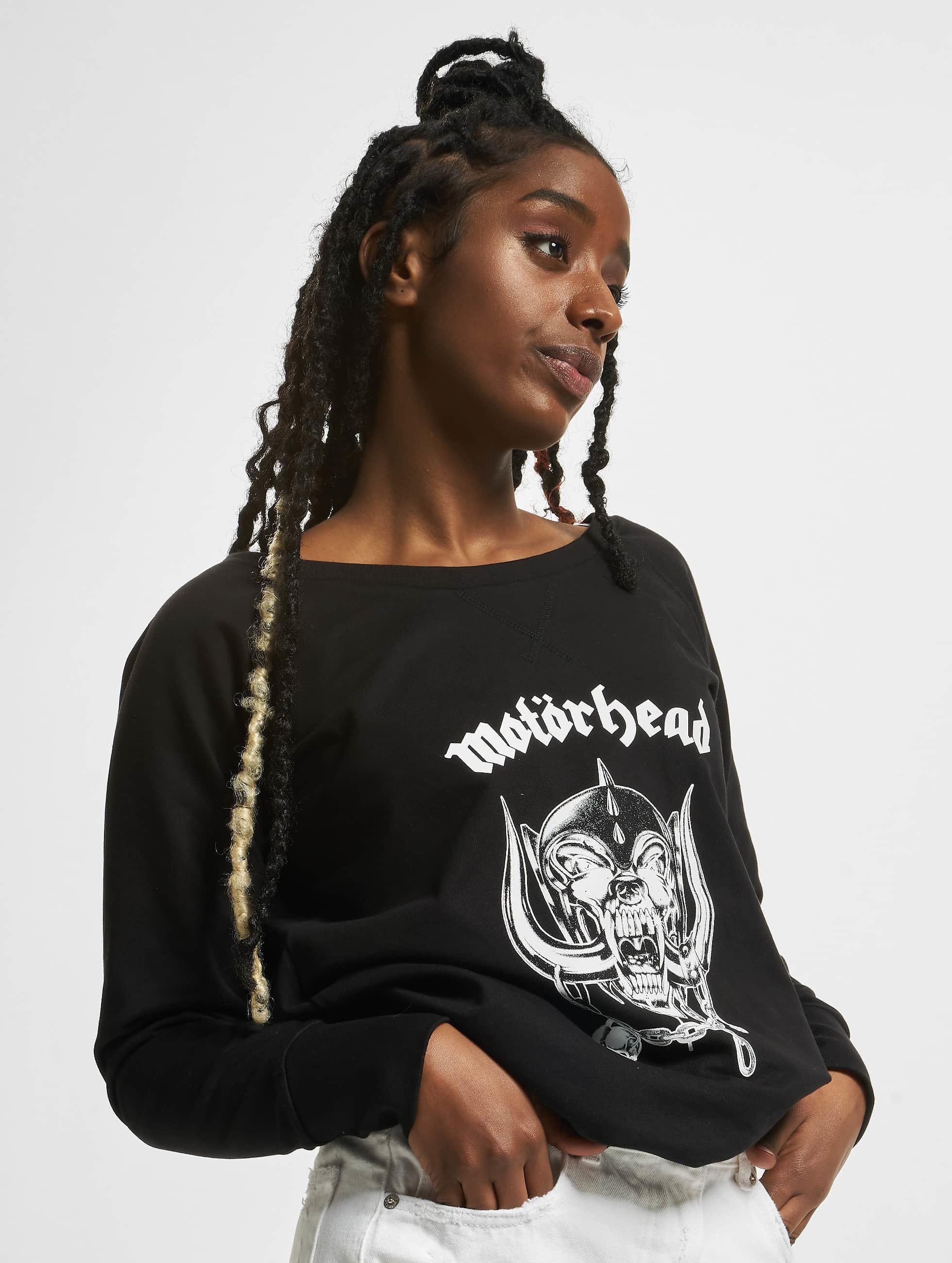 Merchcode Frauen Pullover Ladies Motörhead Everything Louder Wideneck in schwarz