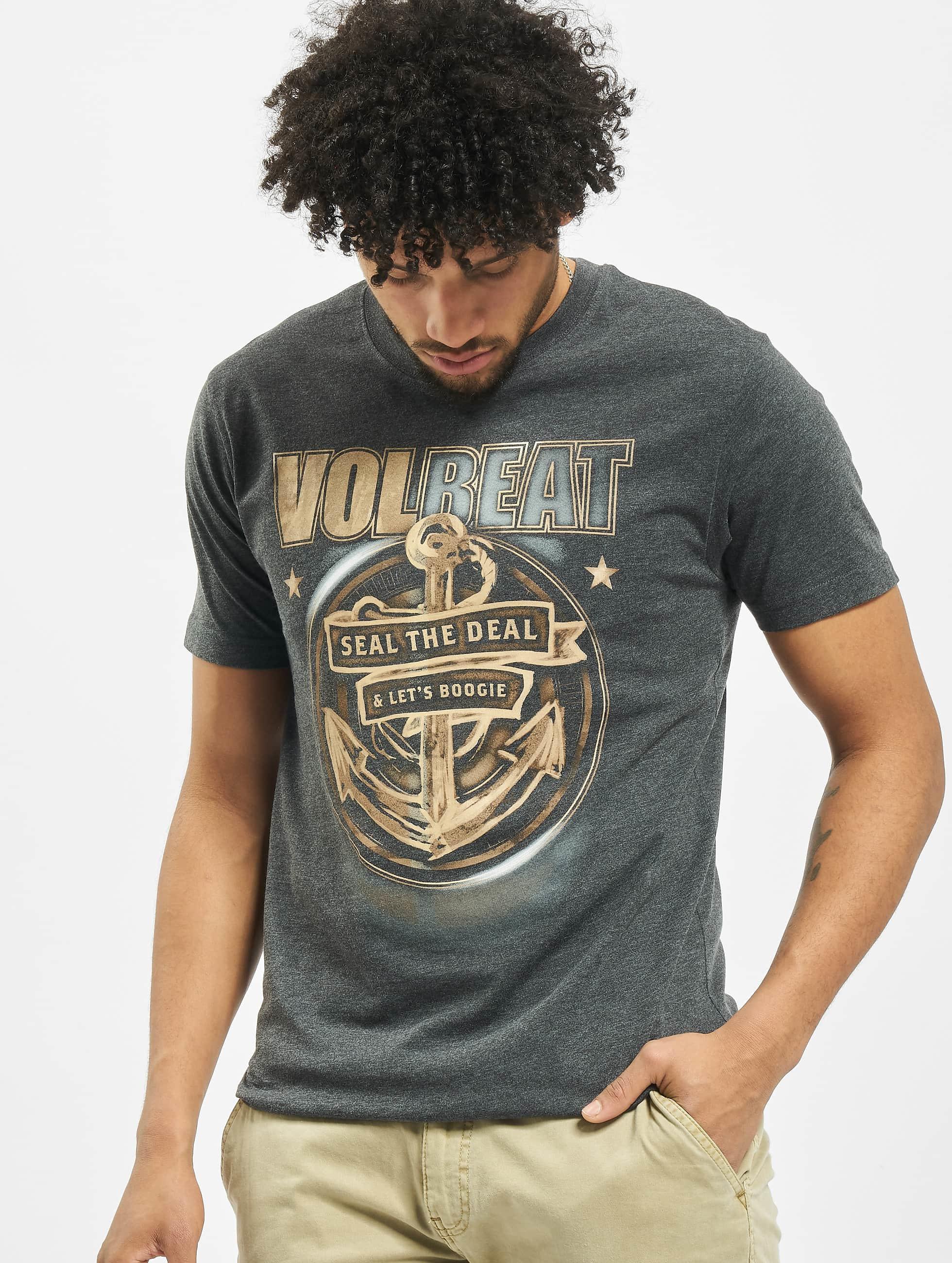 Merchcode Männer T-Shirt Volbeat Seal The Deal in grau