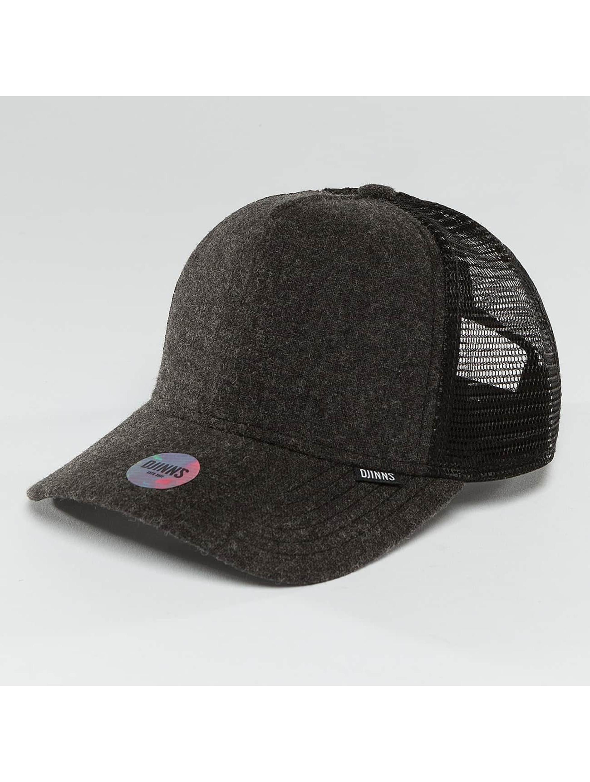 Djinns / Trucker Cap Flannel in black