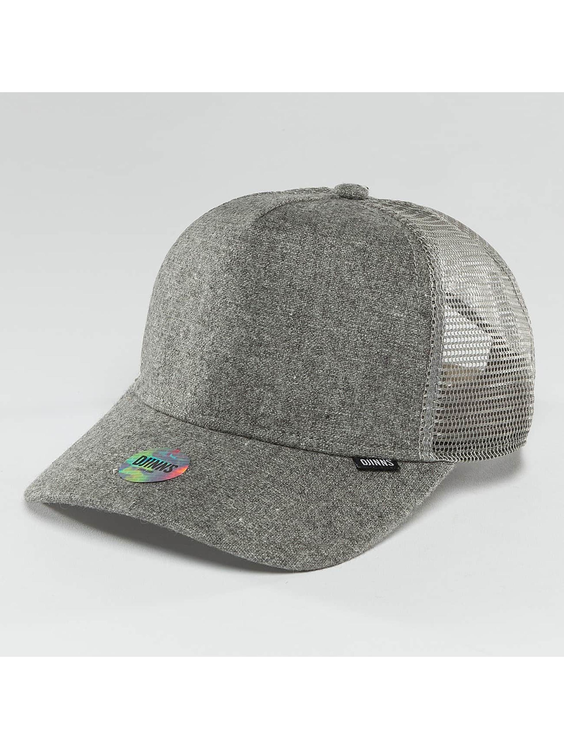 Djinns / Trucker Cap Flannel in grey