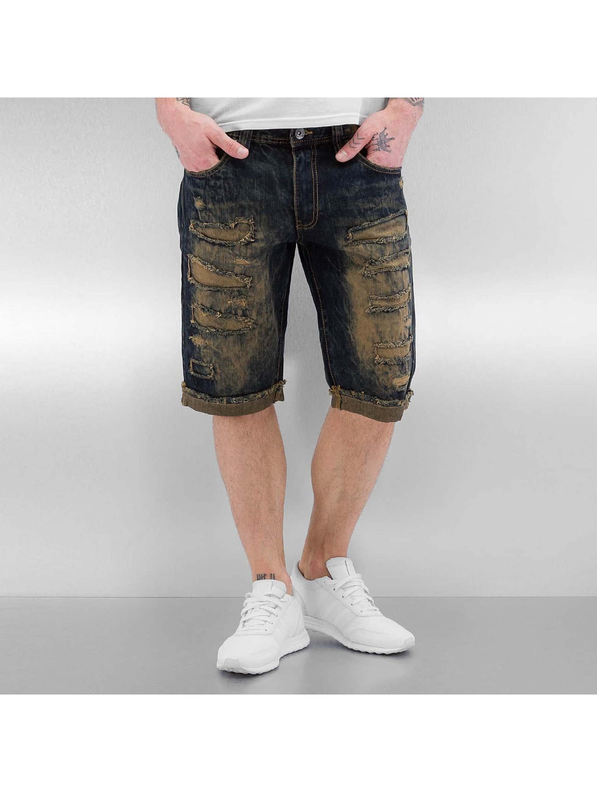 Southpole Männer Shorts Ripped in blau