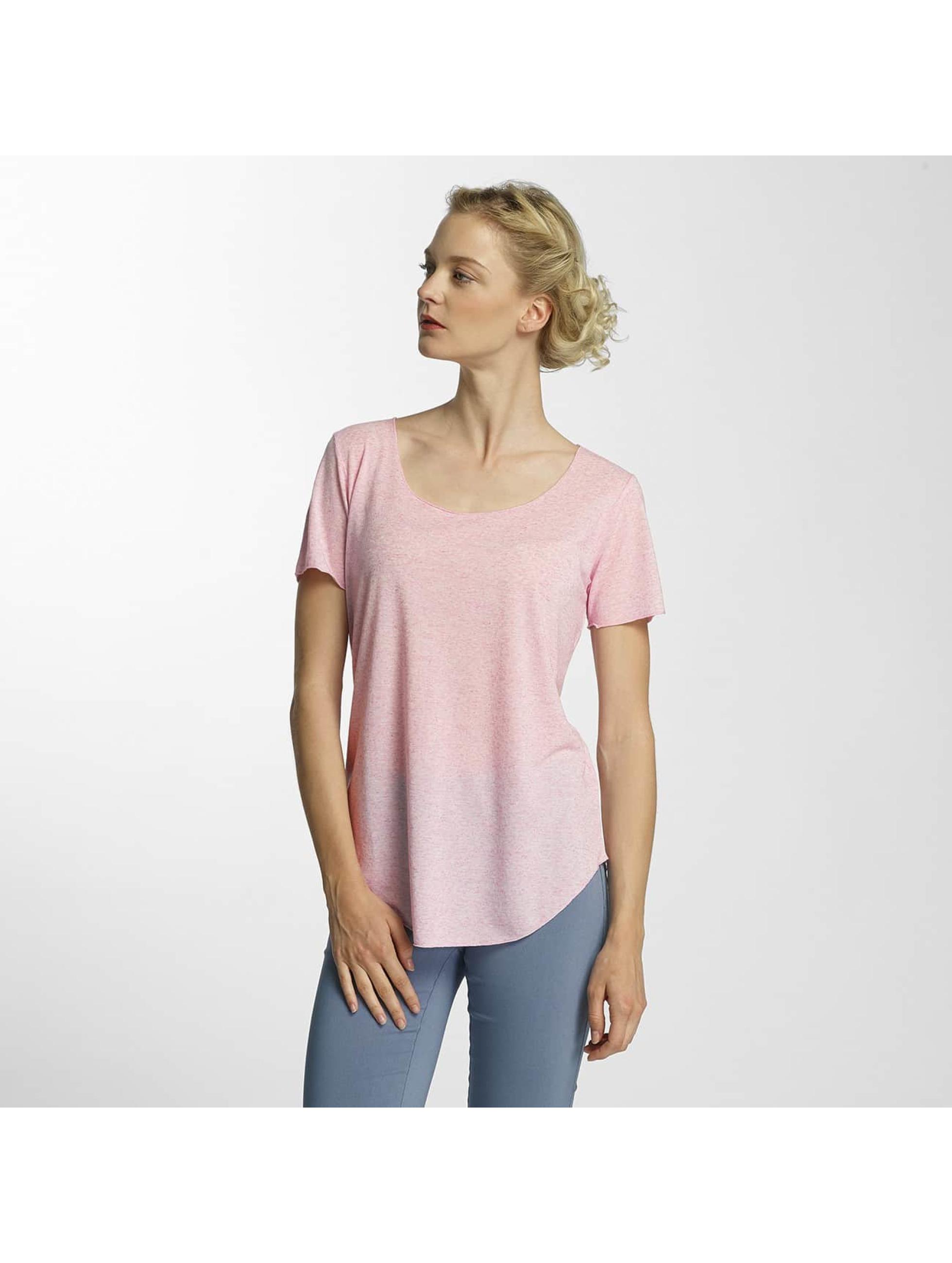 JACQUELINE de YONG Frauen T-Shirt jdyLinette in rosa