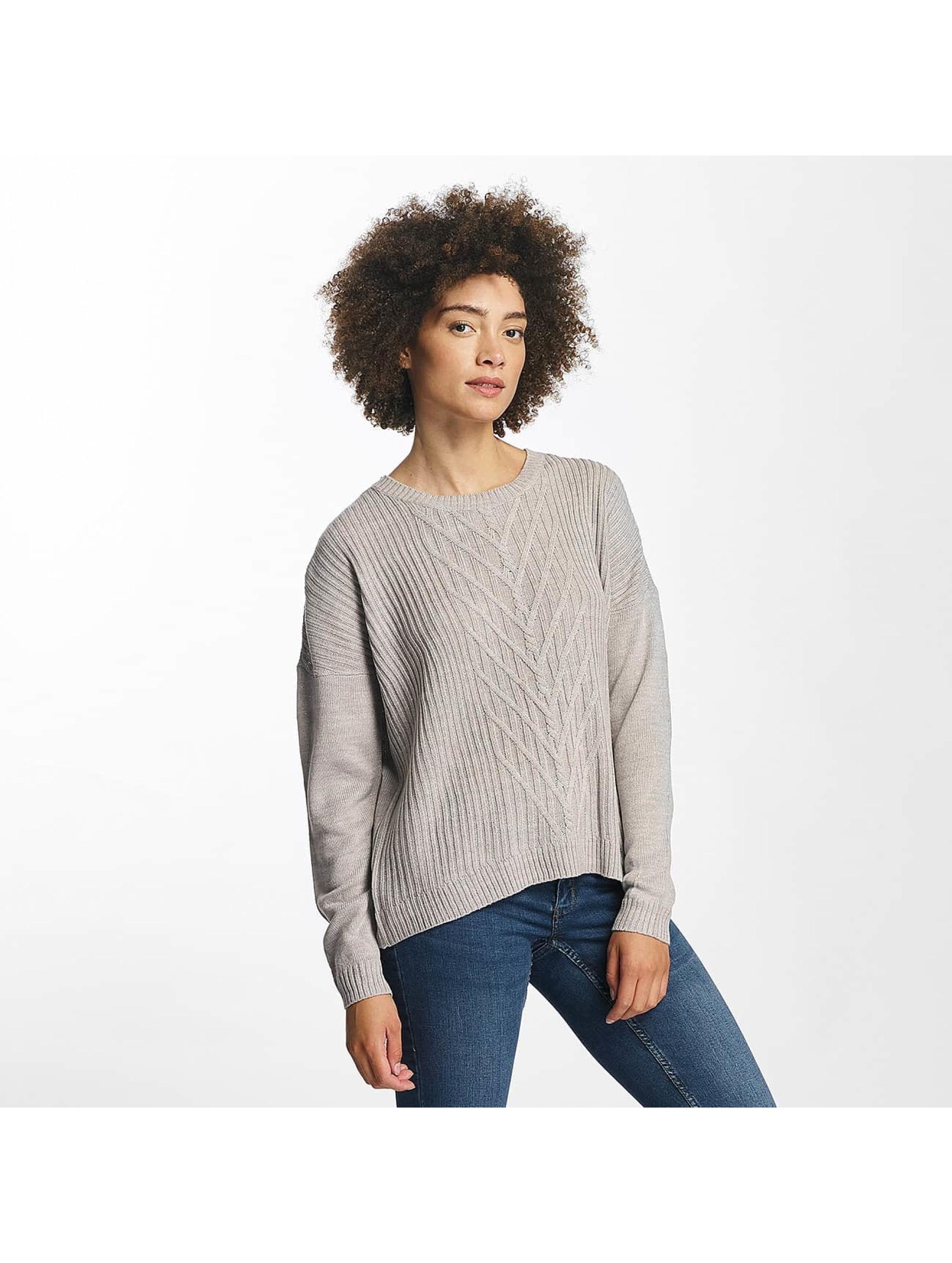 JACQUELINE de YONG Frauen Pullover jdyKeeks in grau