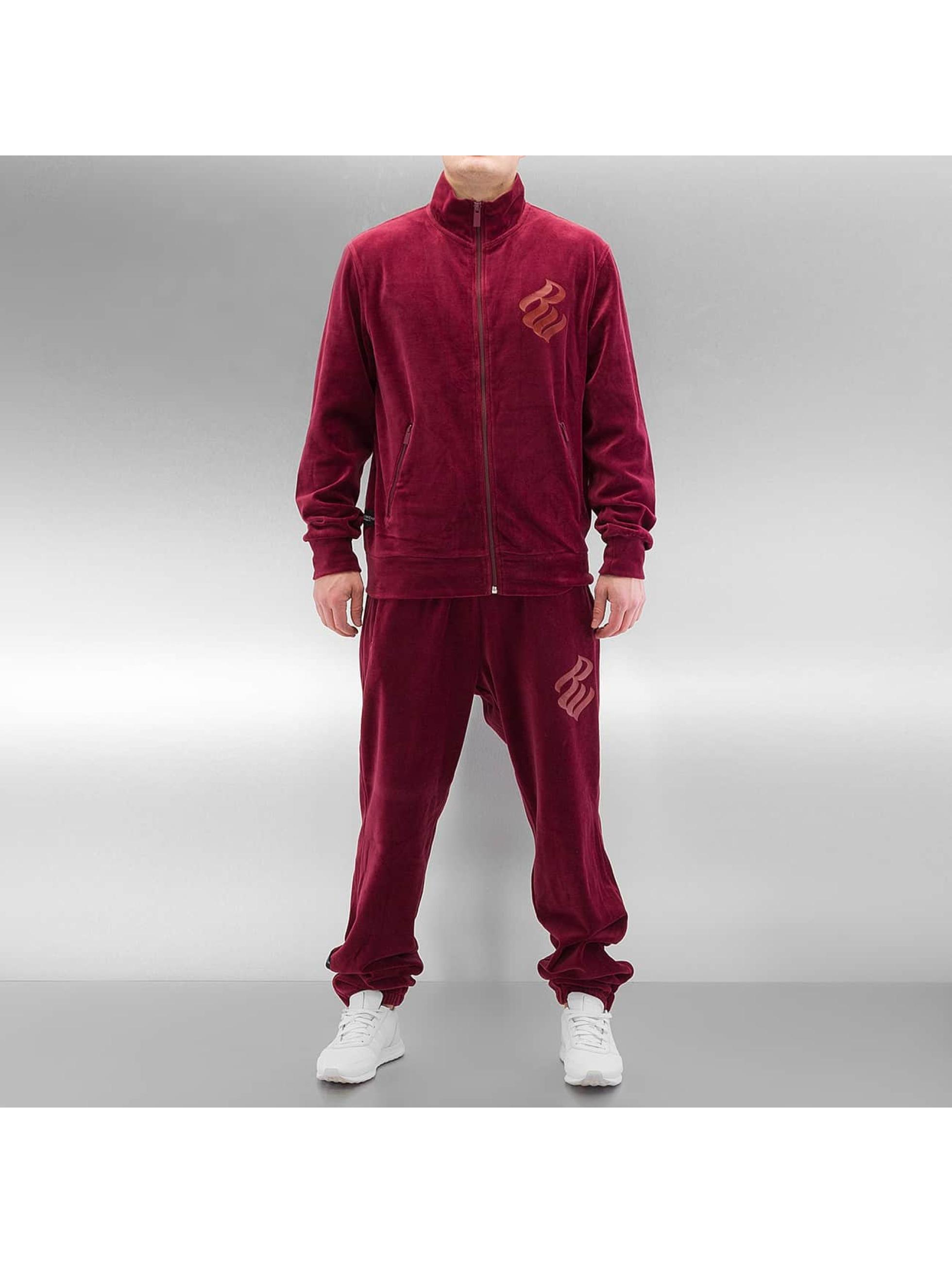Rocawear Männer Anzug Velour in rot