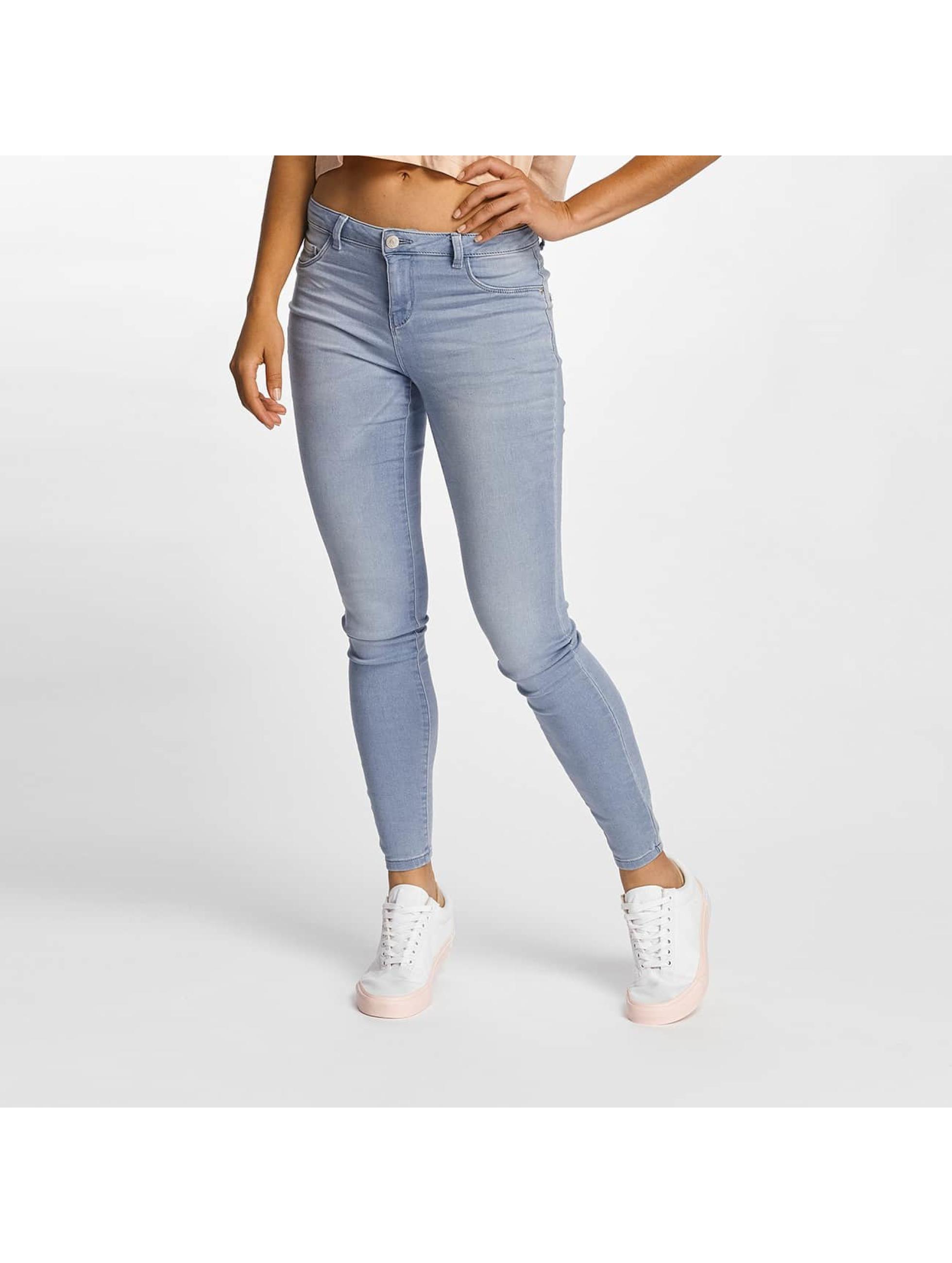 JACQUELINE de YONG Frauen Skinny Jeans jdySkinny Reg Ulle in blau
