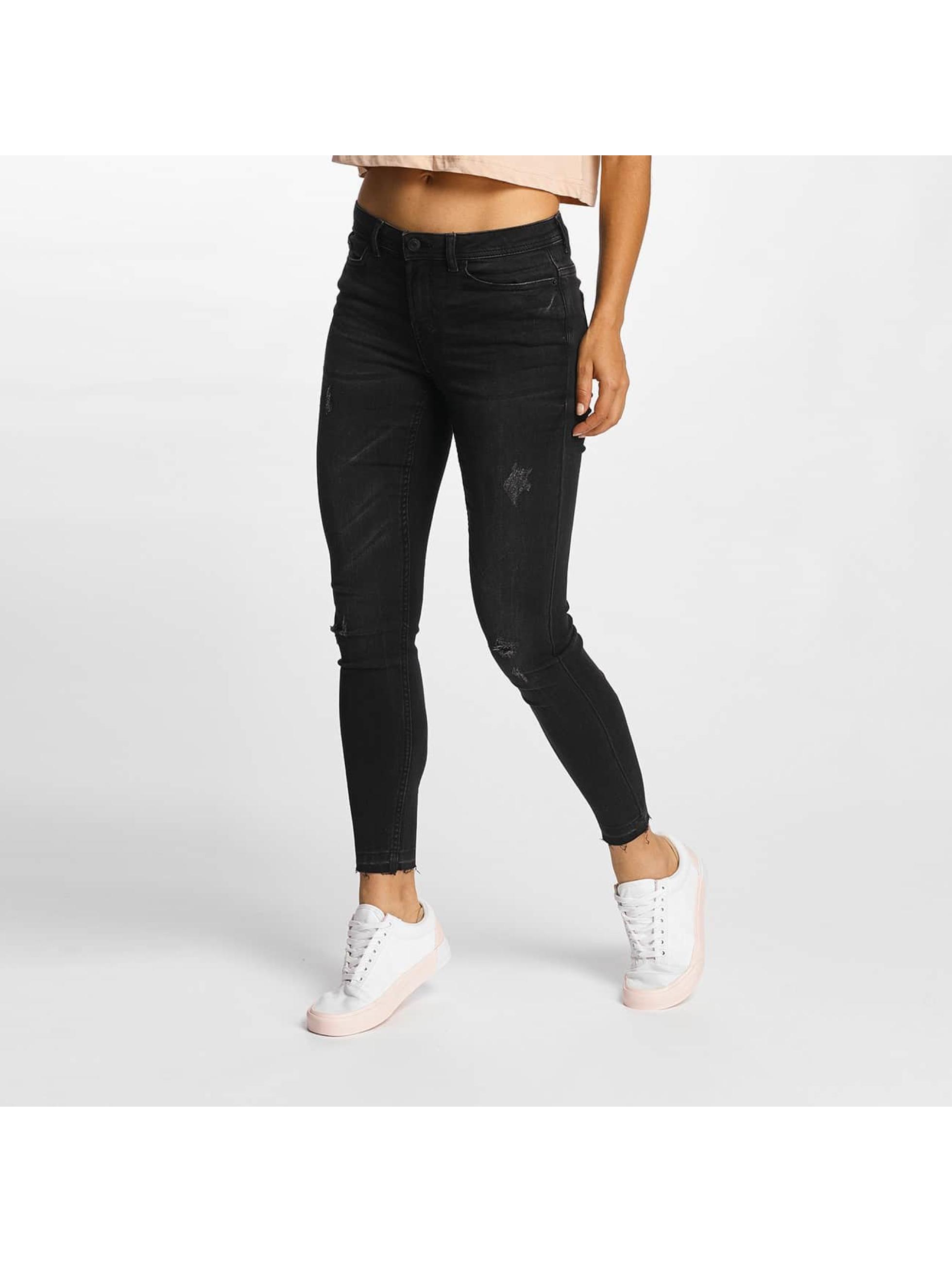JACQUELINE de YONG Frauen Skinny Jeans jdySkinny Low Jake in grau
