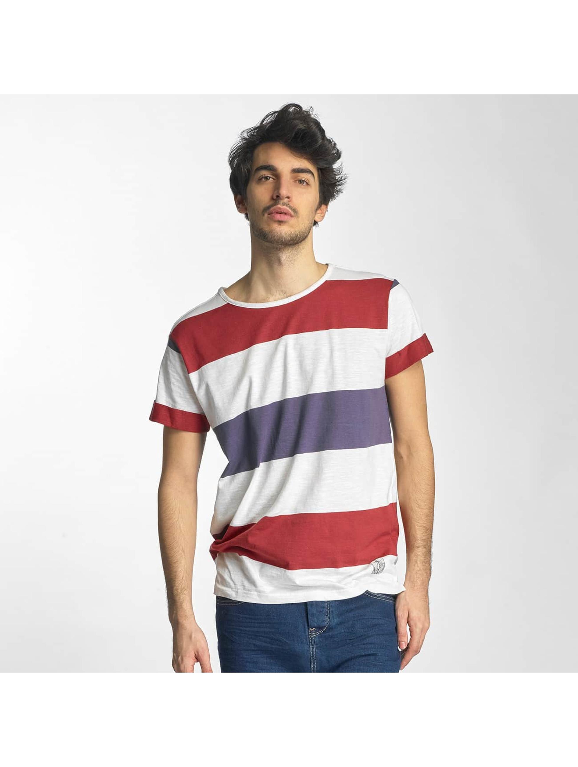 Sky Rebel Männer T-Shirt Stripes in weiß